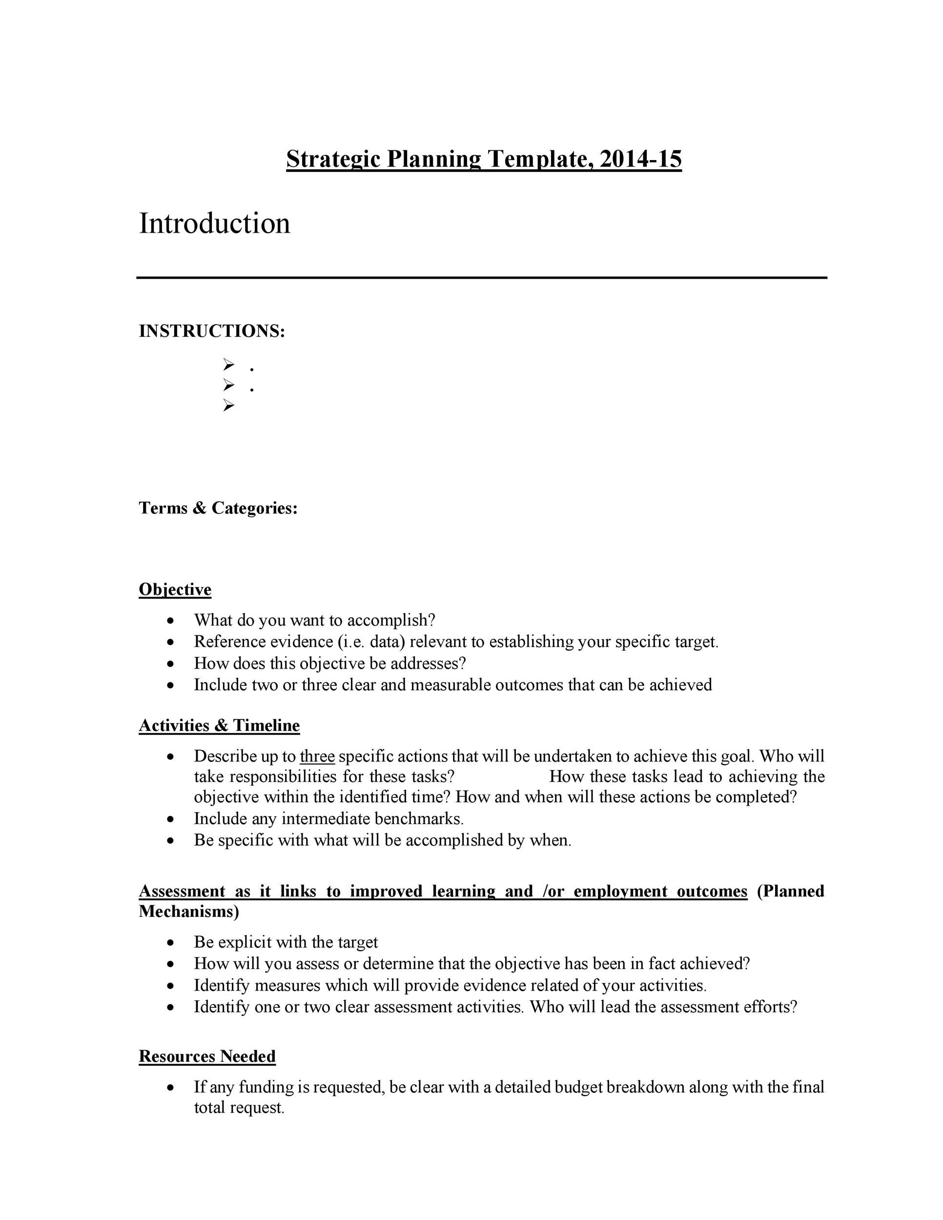 Free Strategic Plan Template 16