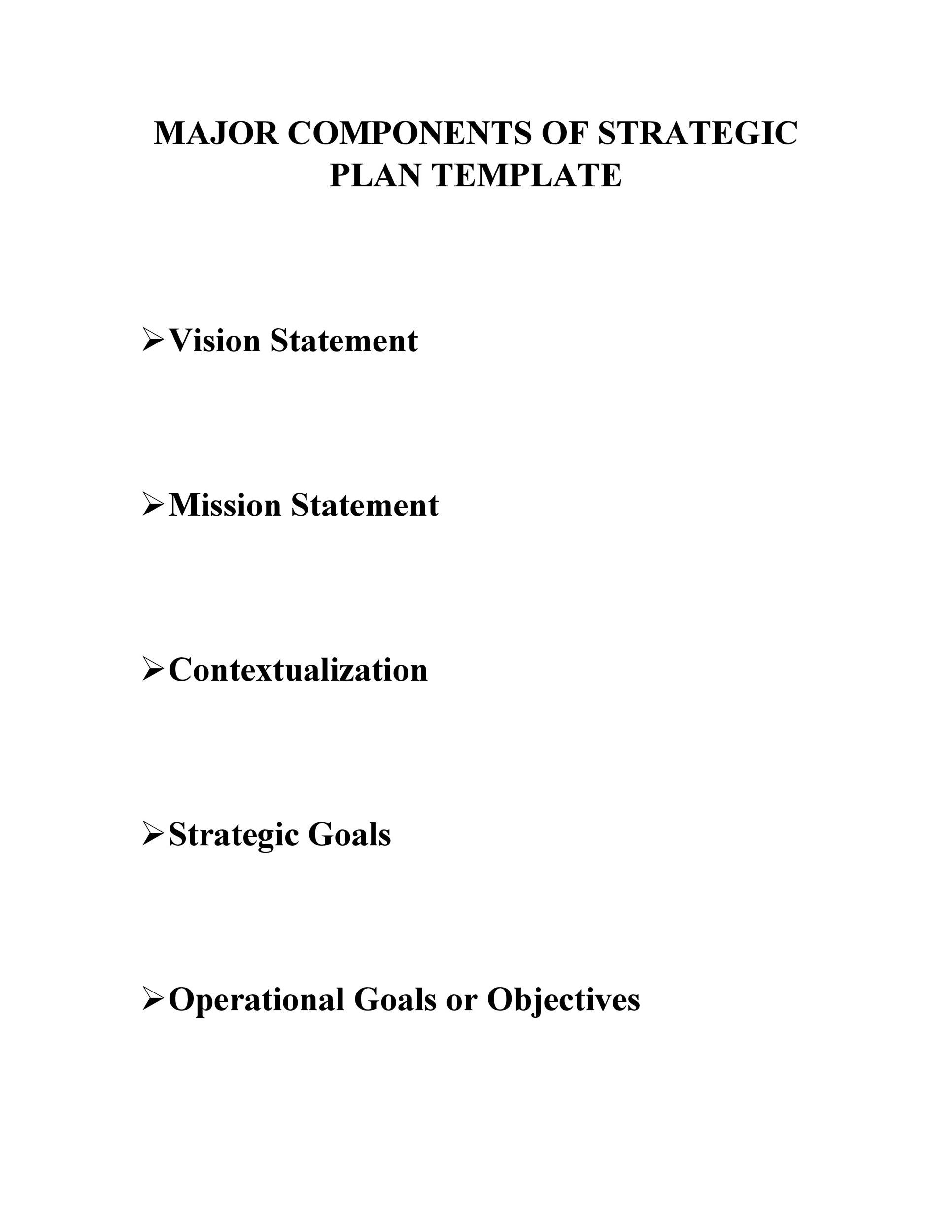 Free Strategic Plan Template 17
