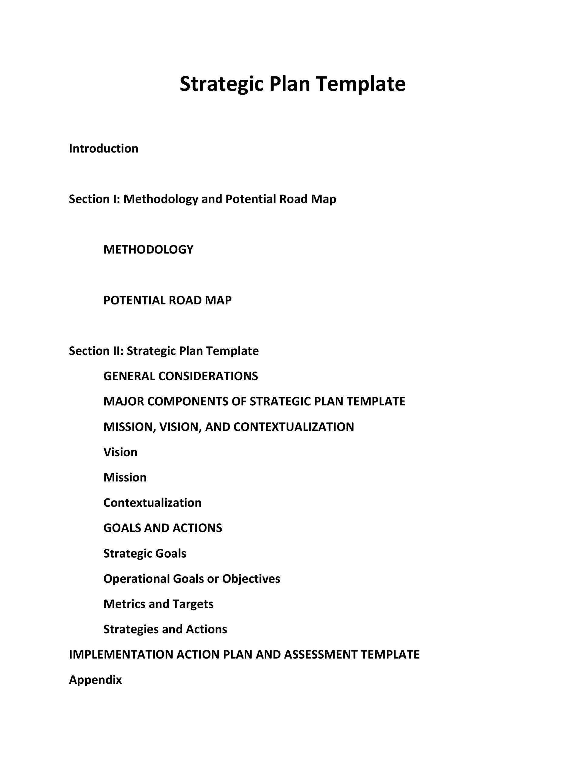 Free Strategic Plan Template 18
