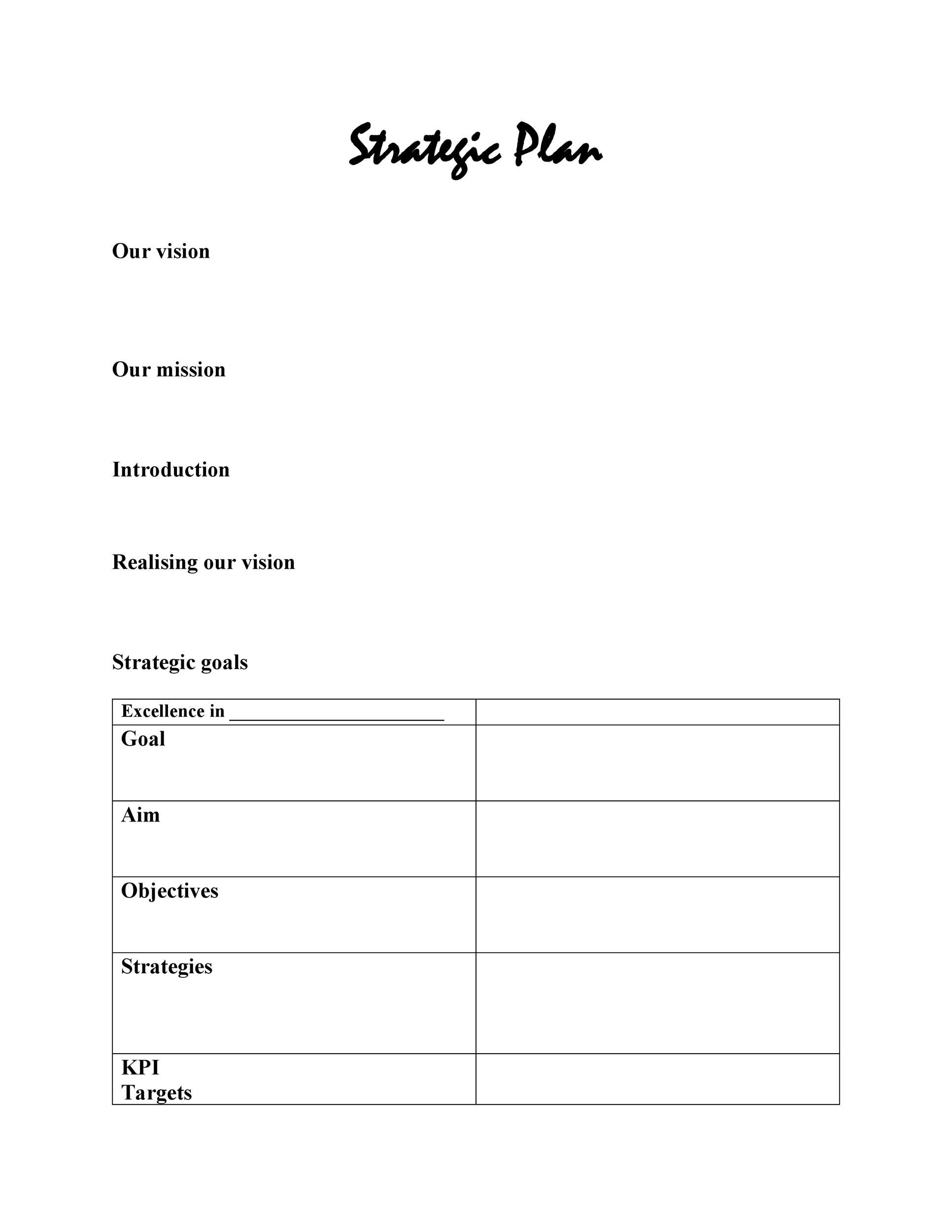 Free Strategic Plan Template 22