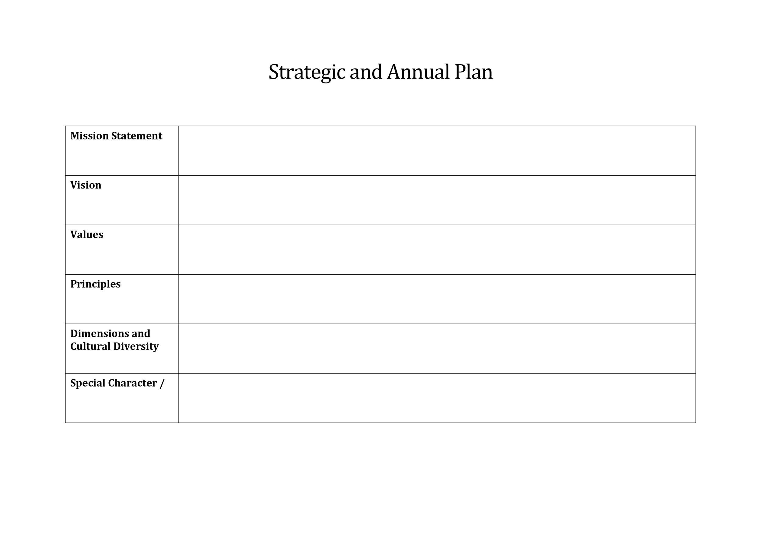Free Strategic Plan Template 23
