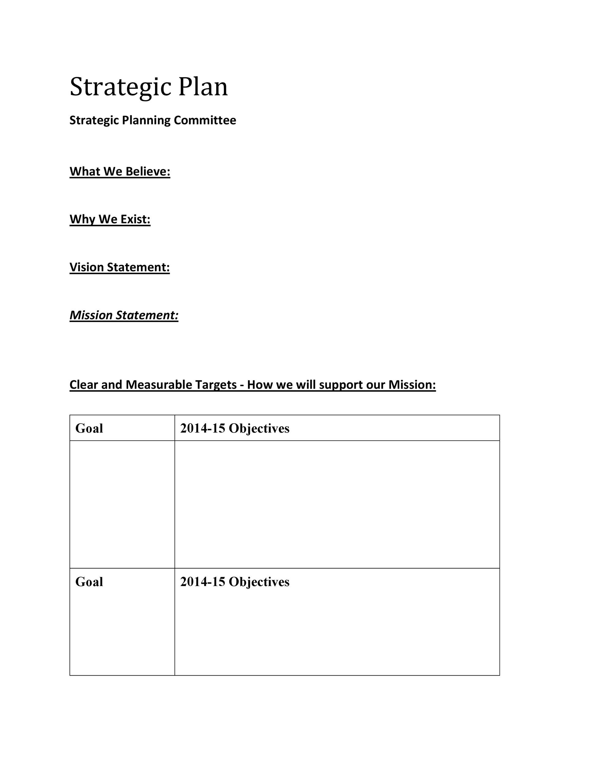 Strategic Plan Template 26