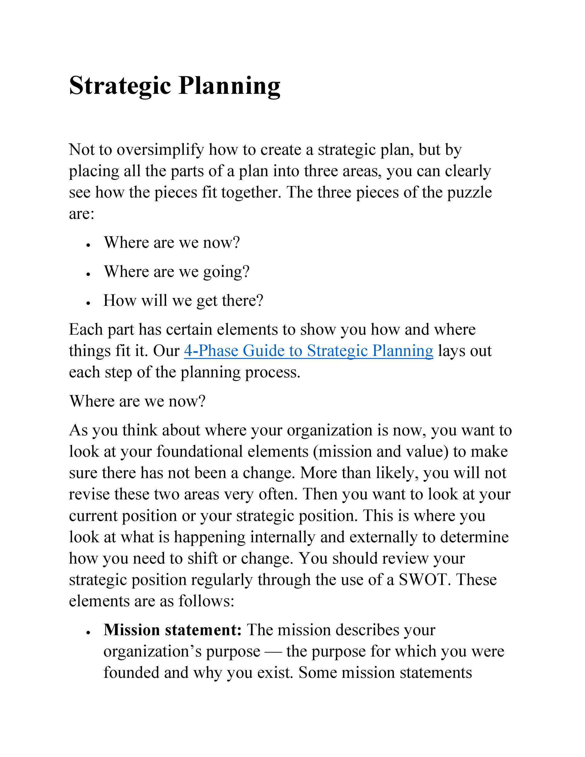 Strategic Plan Template 27