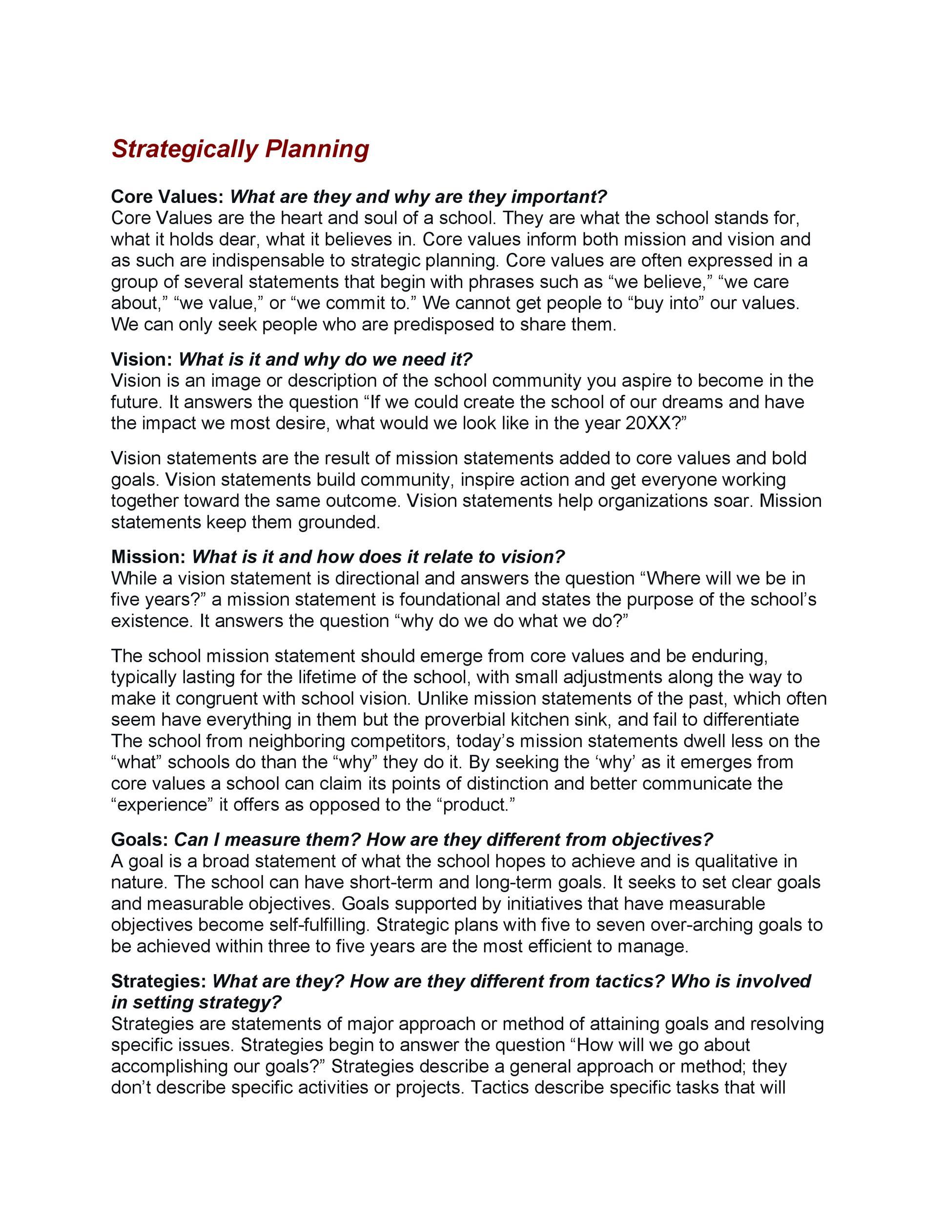 Free Strategic Plan Template 29