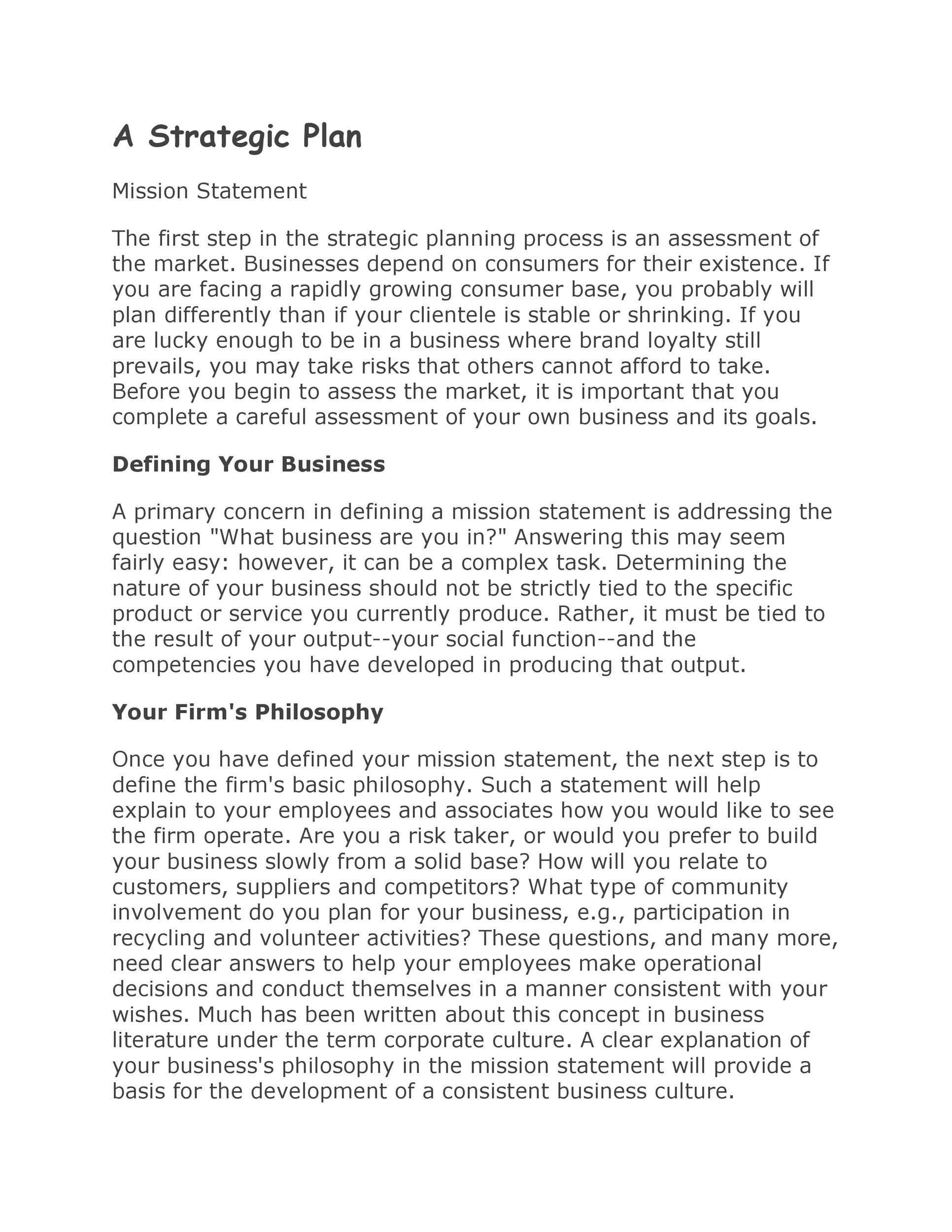 Free Strategic Plan Template 31