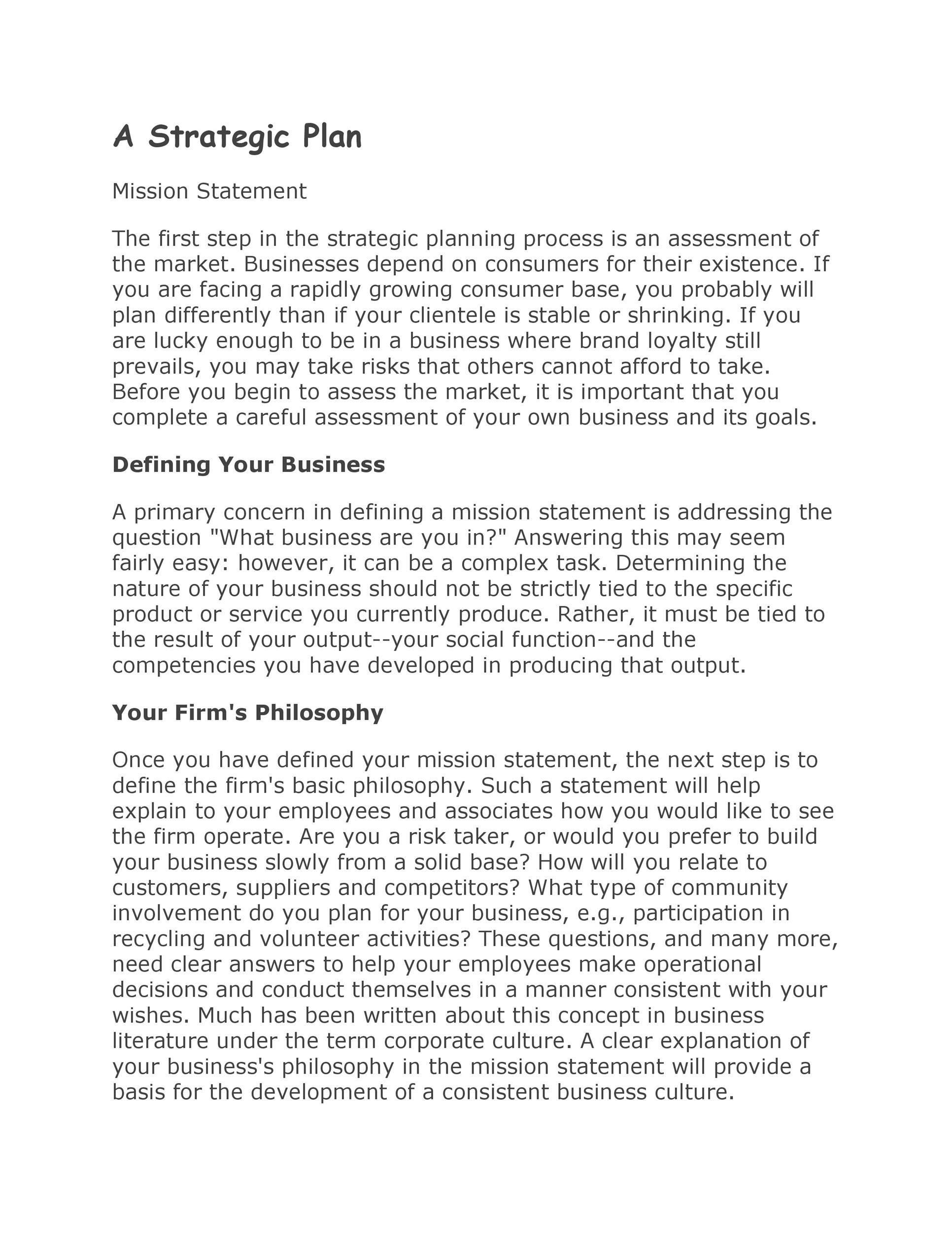 Free Strategic Plan Template 31