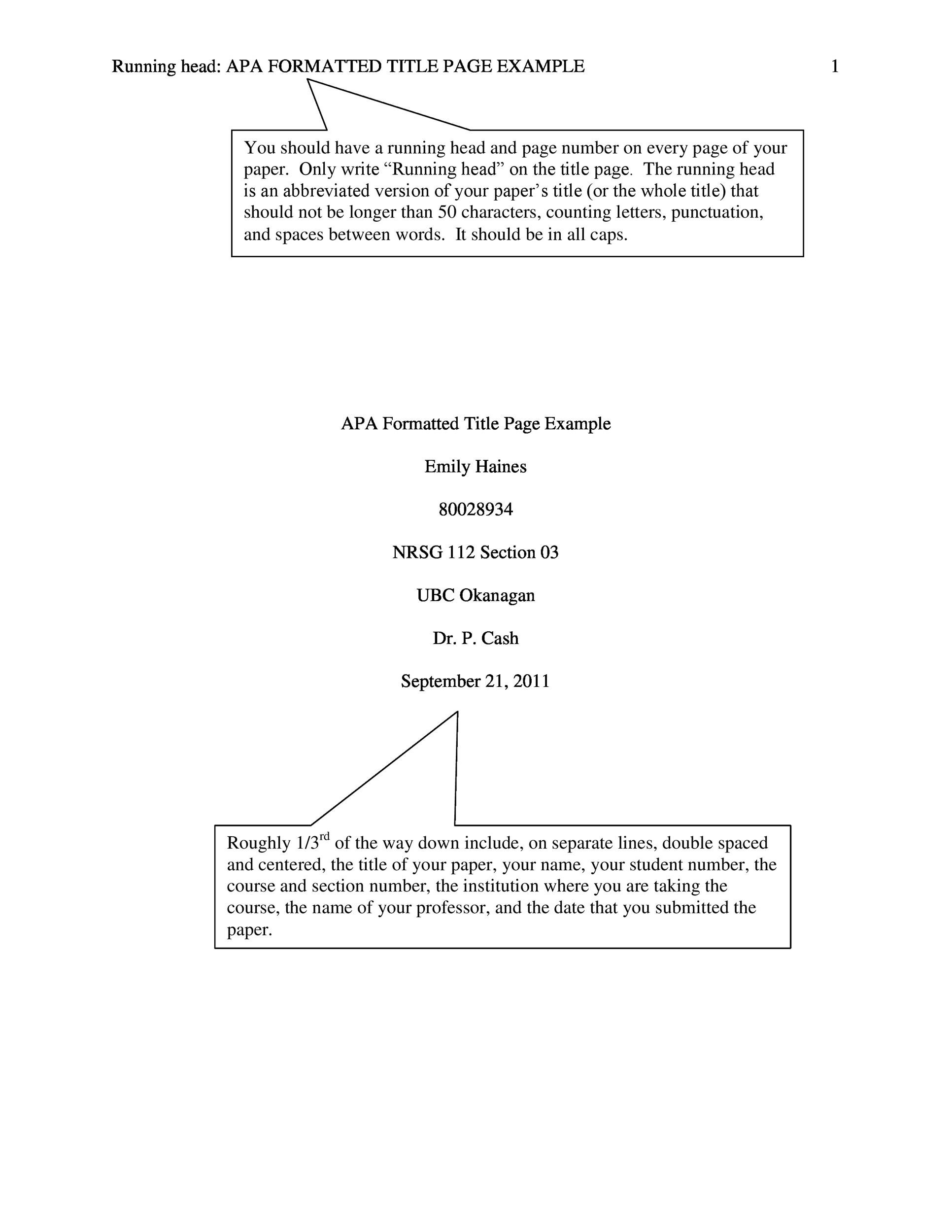 40+ APA Format / Style Templates (in Word & PDF) - Template Lab
