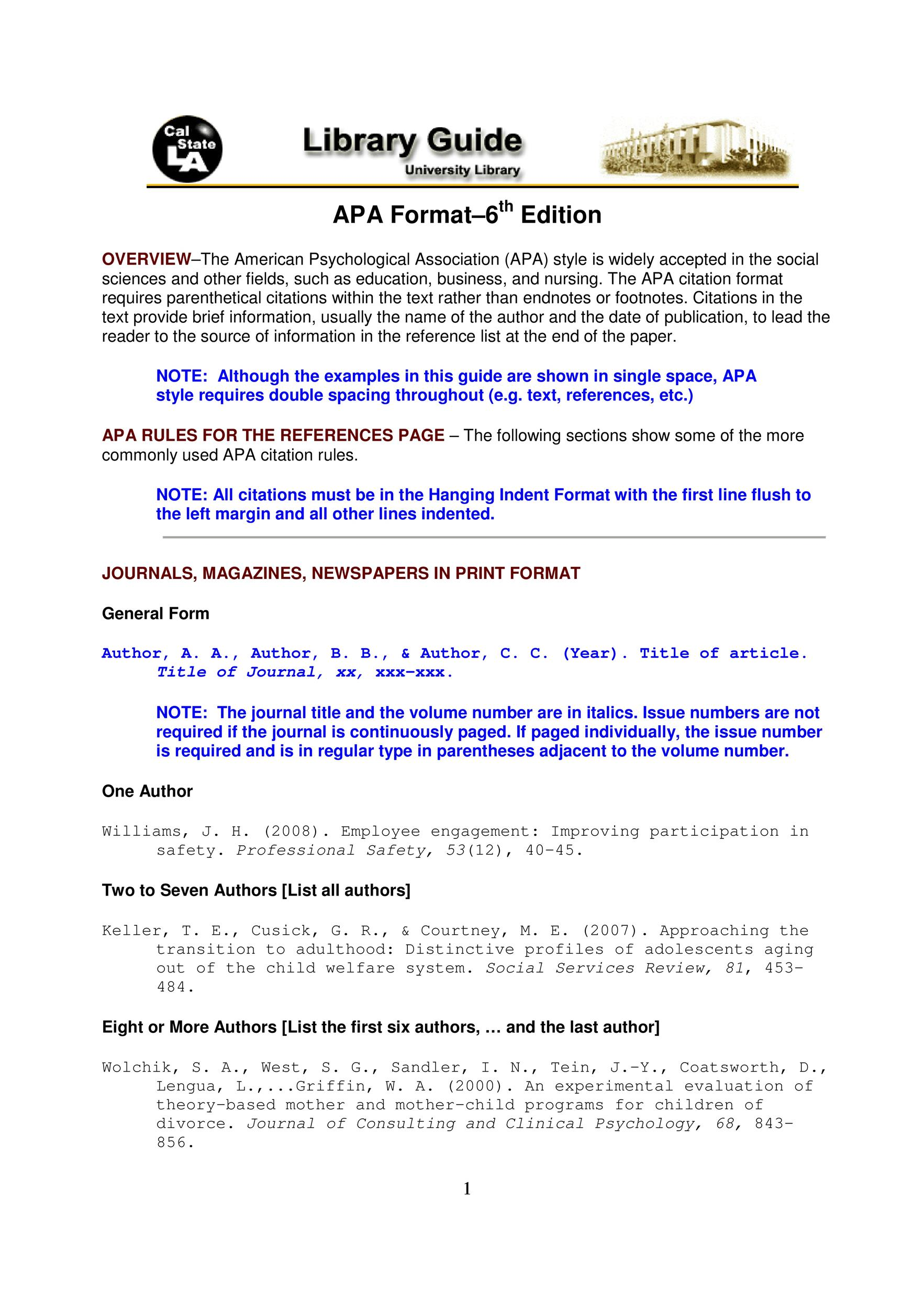 apa format template word 2007 download