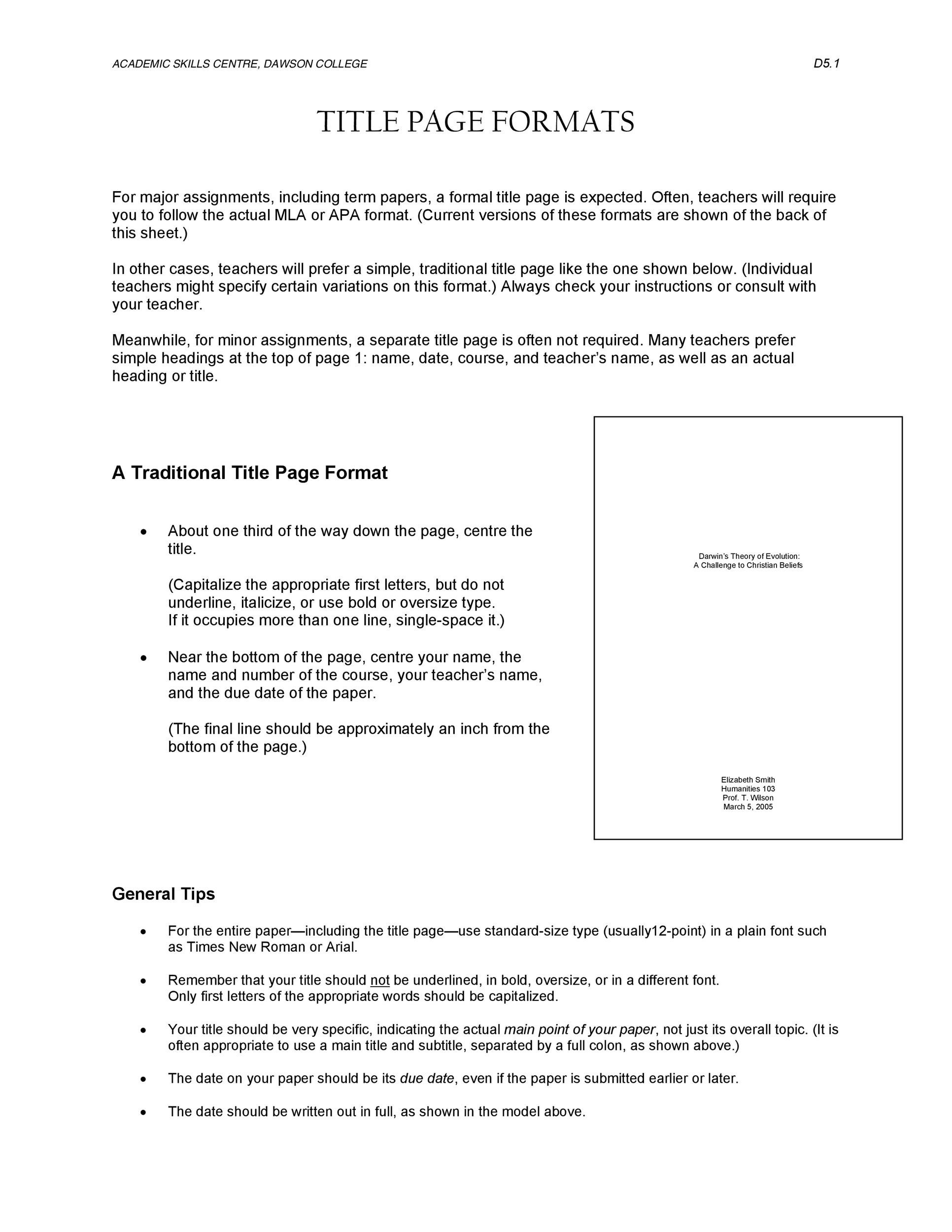 40 Apa Format Style Templates In Word Amp Pdf