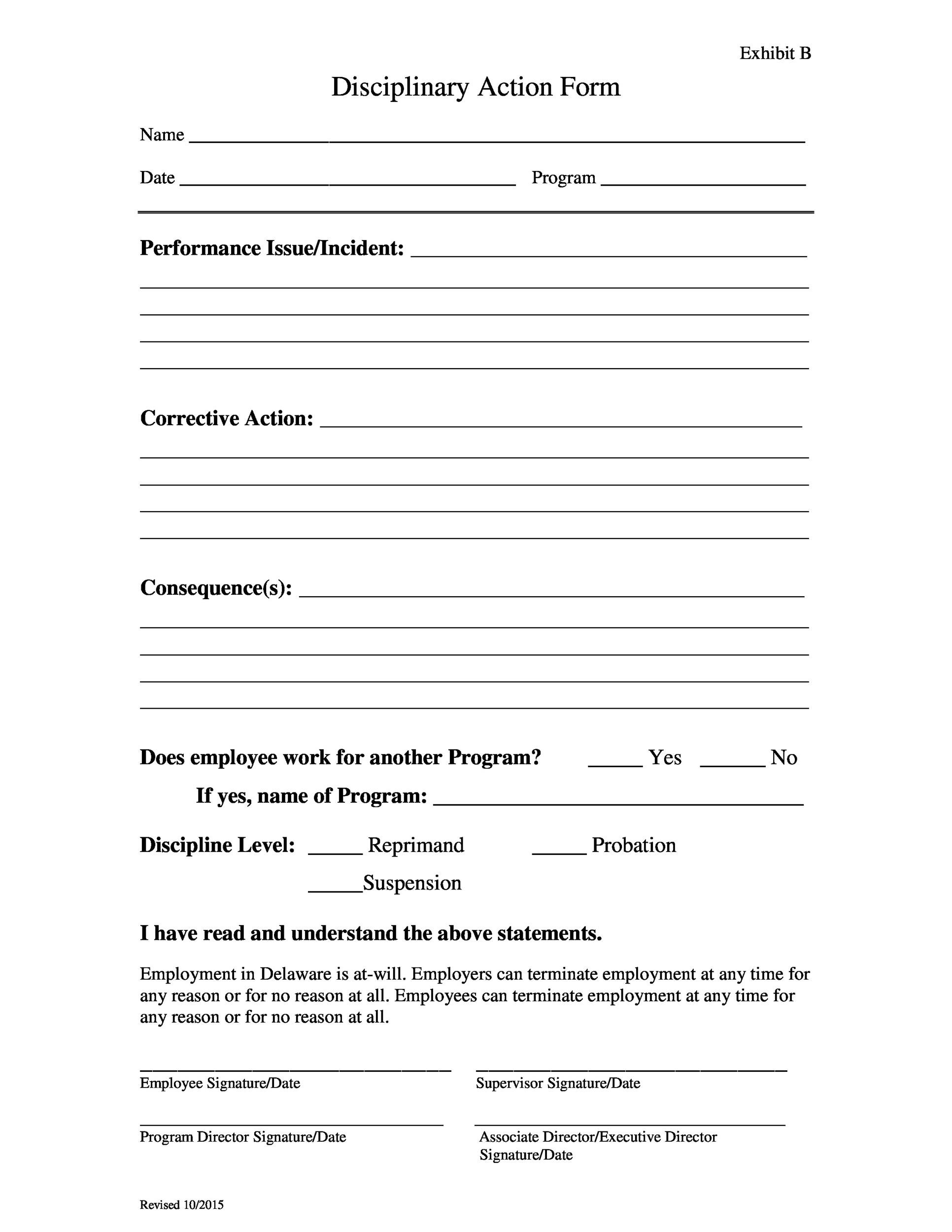 Free Employee write up form 22