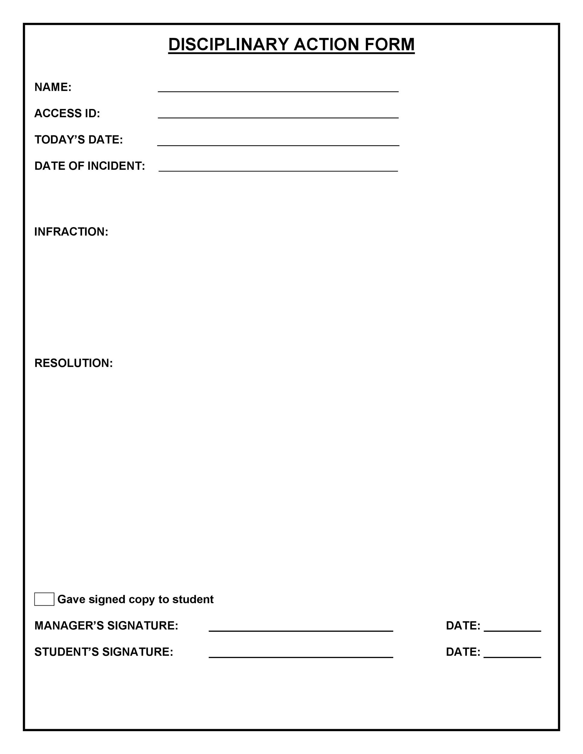 Delightful Printable Employee Write Up Form 29