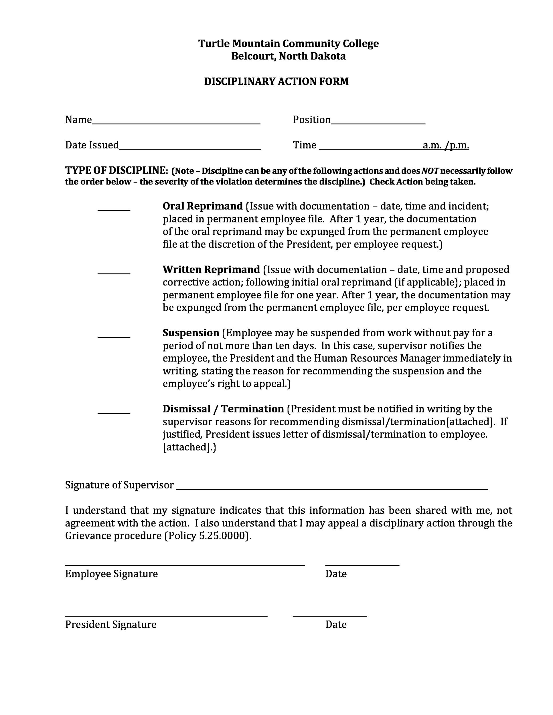 Free Employee write up form 31