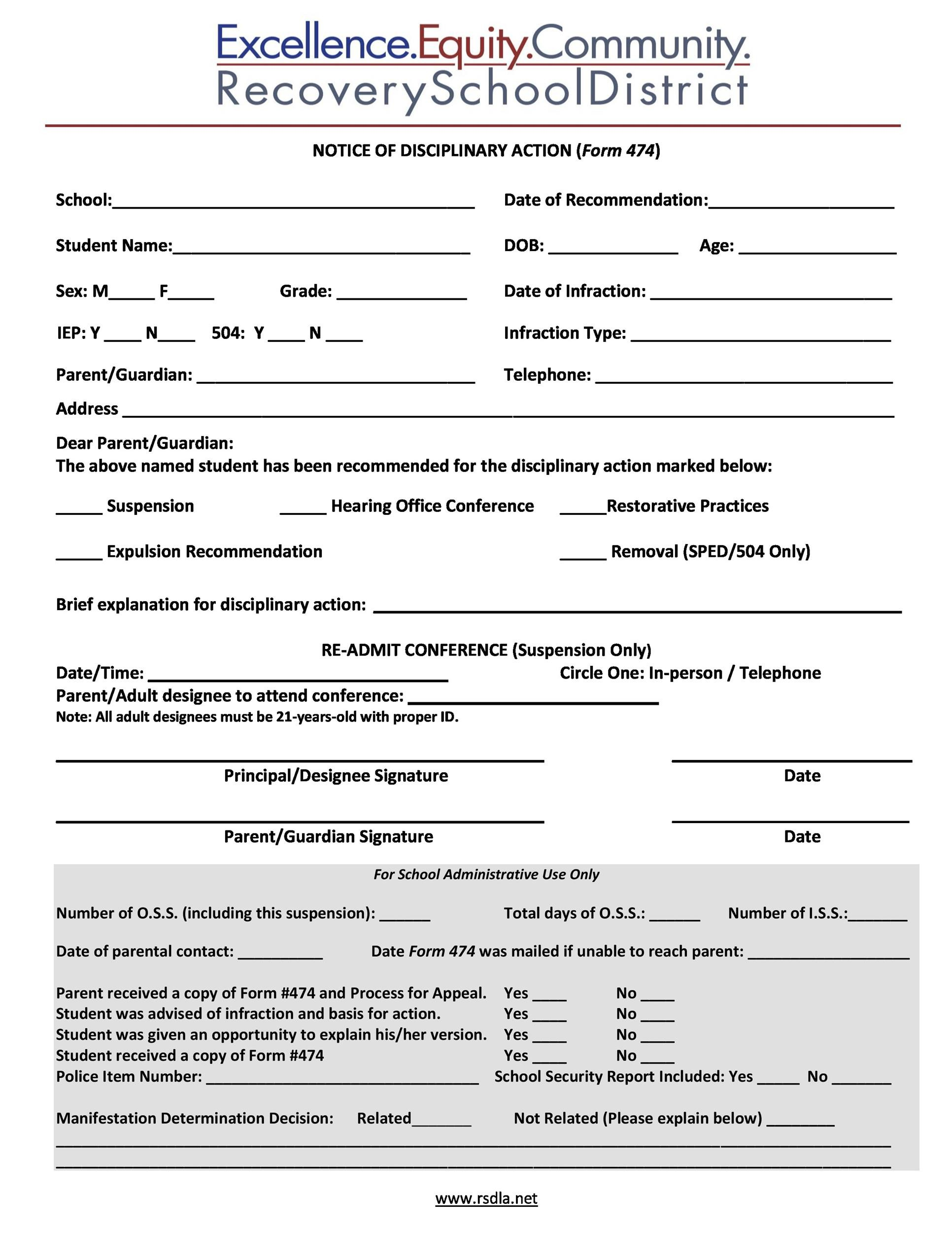 Free Employee write up form 32