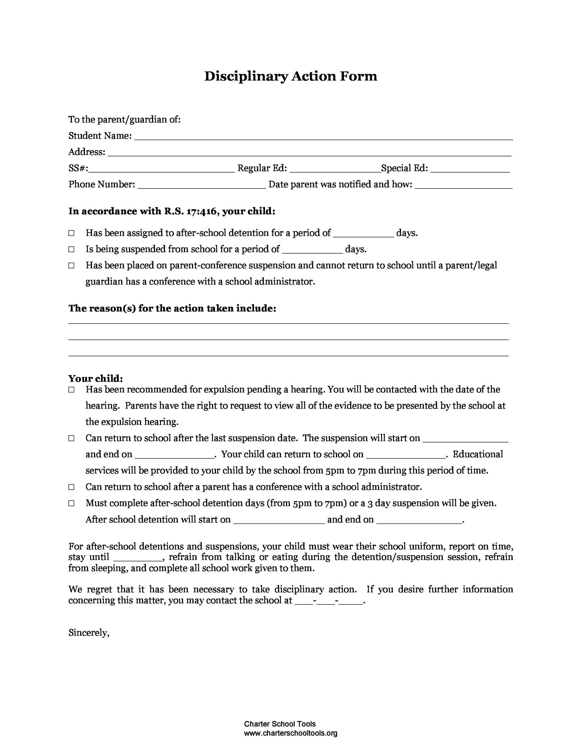 free employee write up form 33