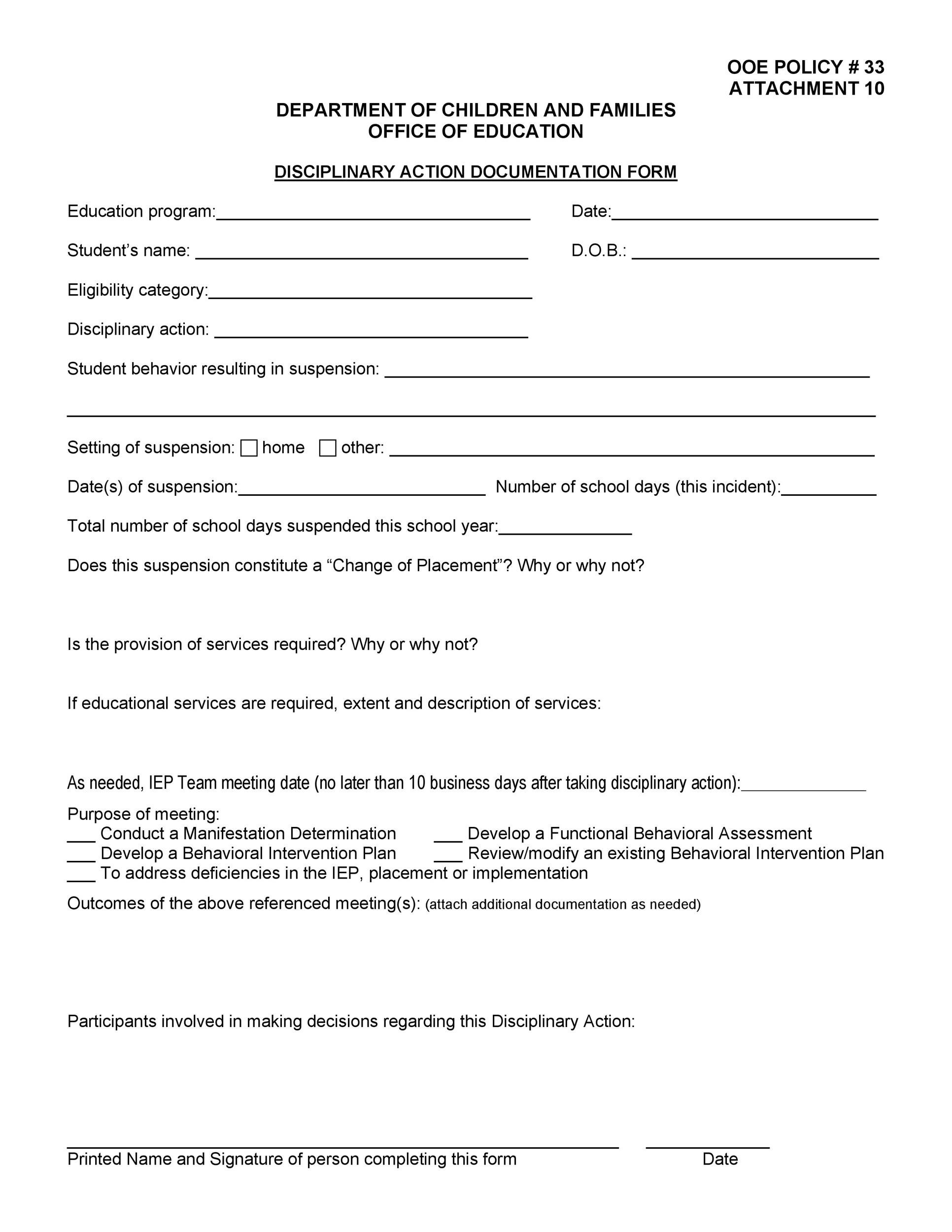 employee discipline form present day imagine disciplinary write up