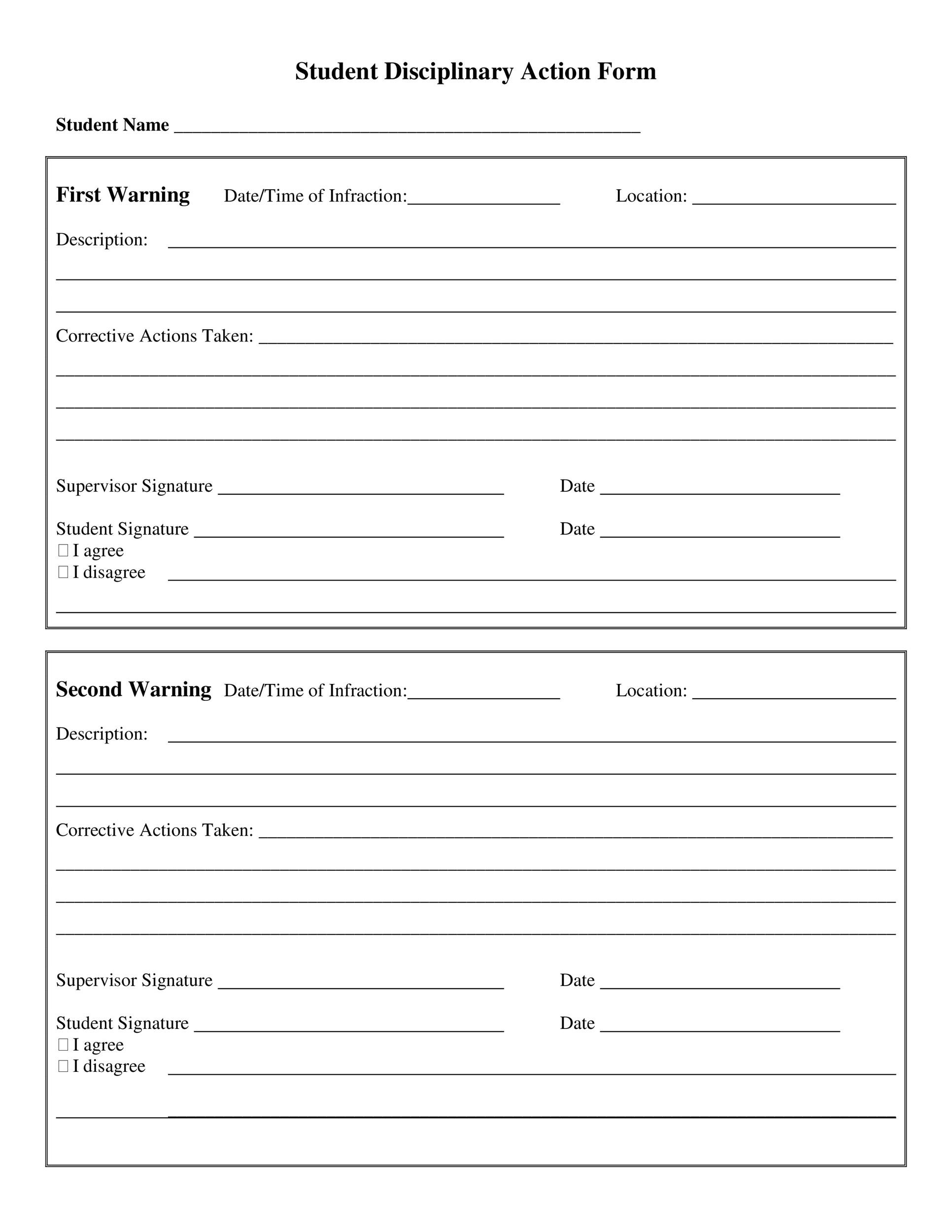 Free Employee write up form 46