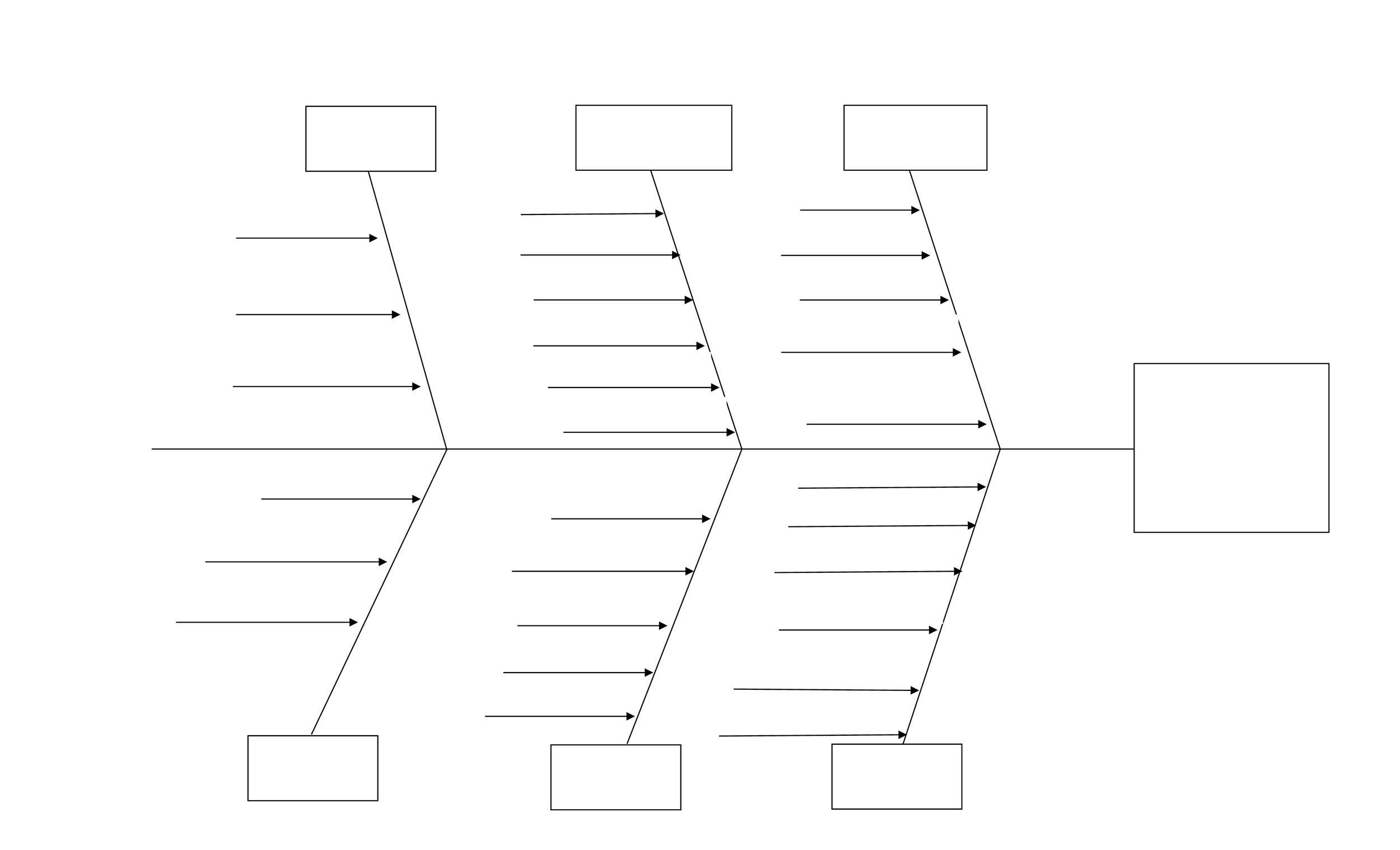 Good Free Fishbone Diagram Template 02