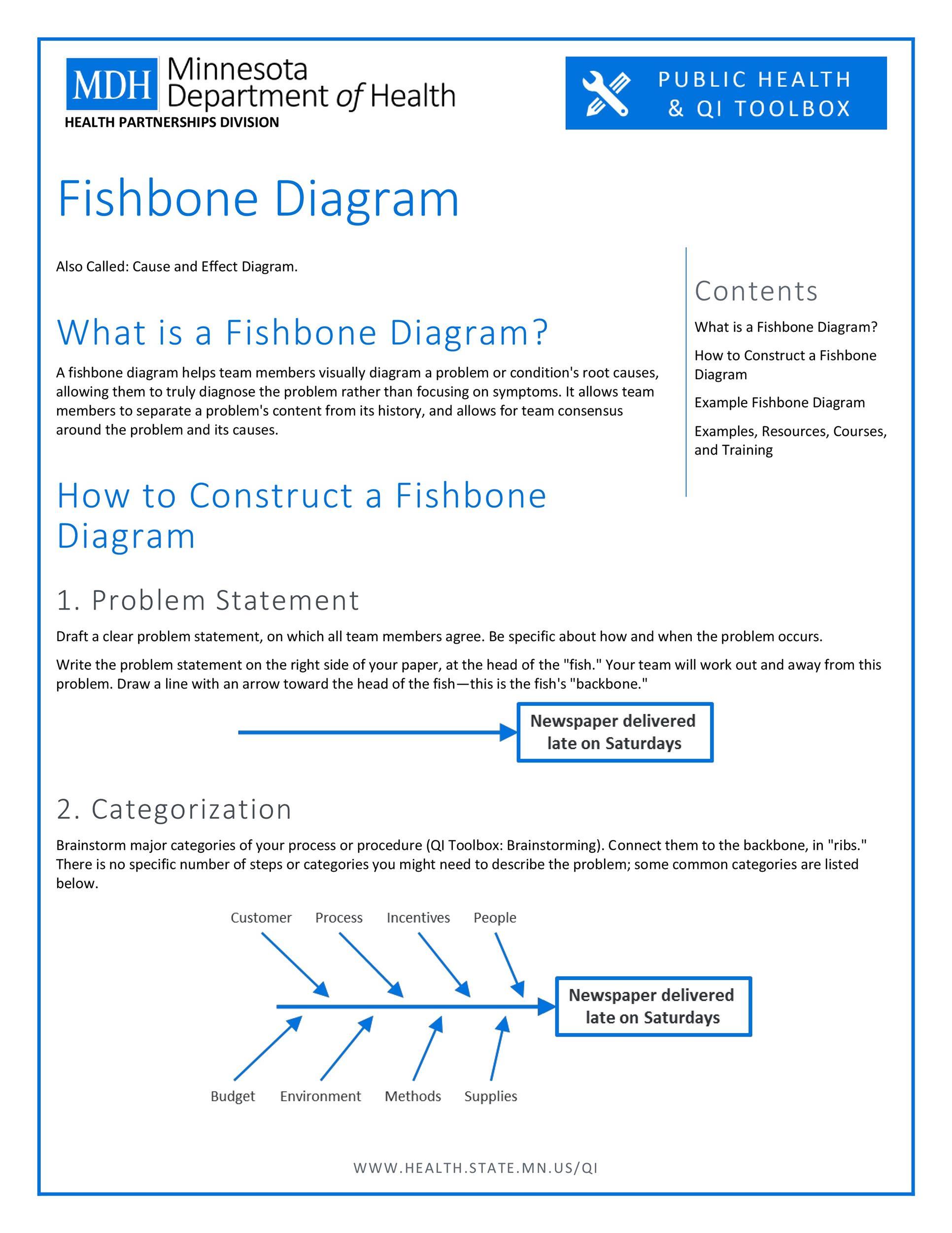 Free Fishbone Diagram Template 23