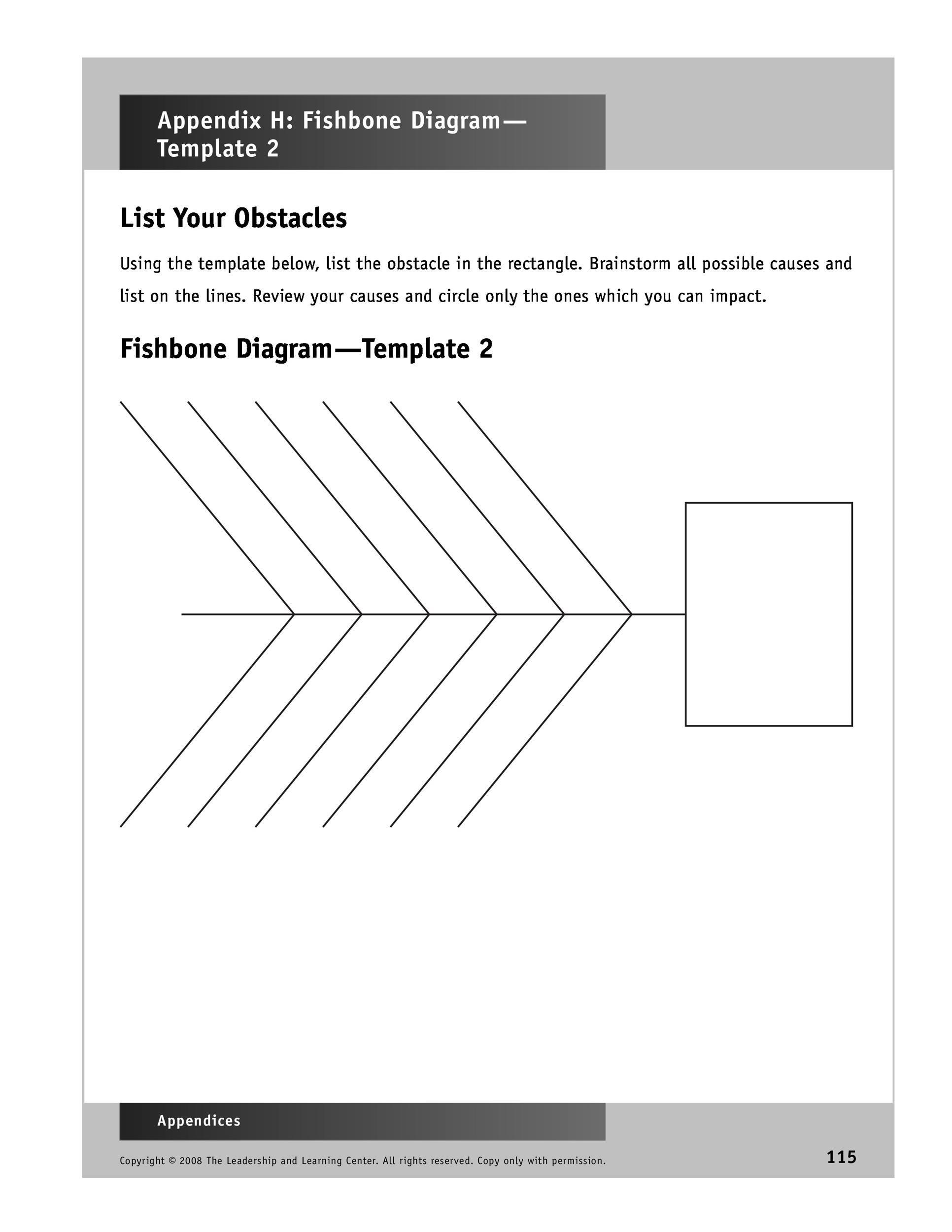 Free Fishbone Diagram Template 42