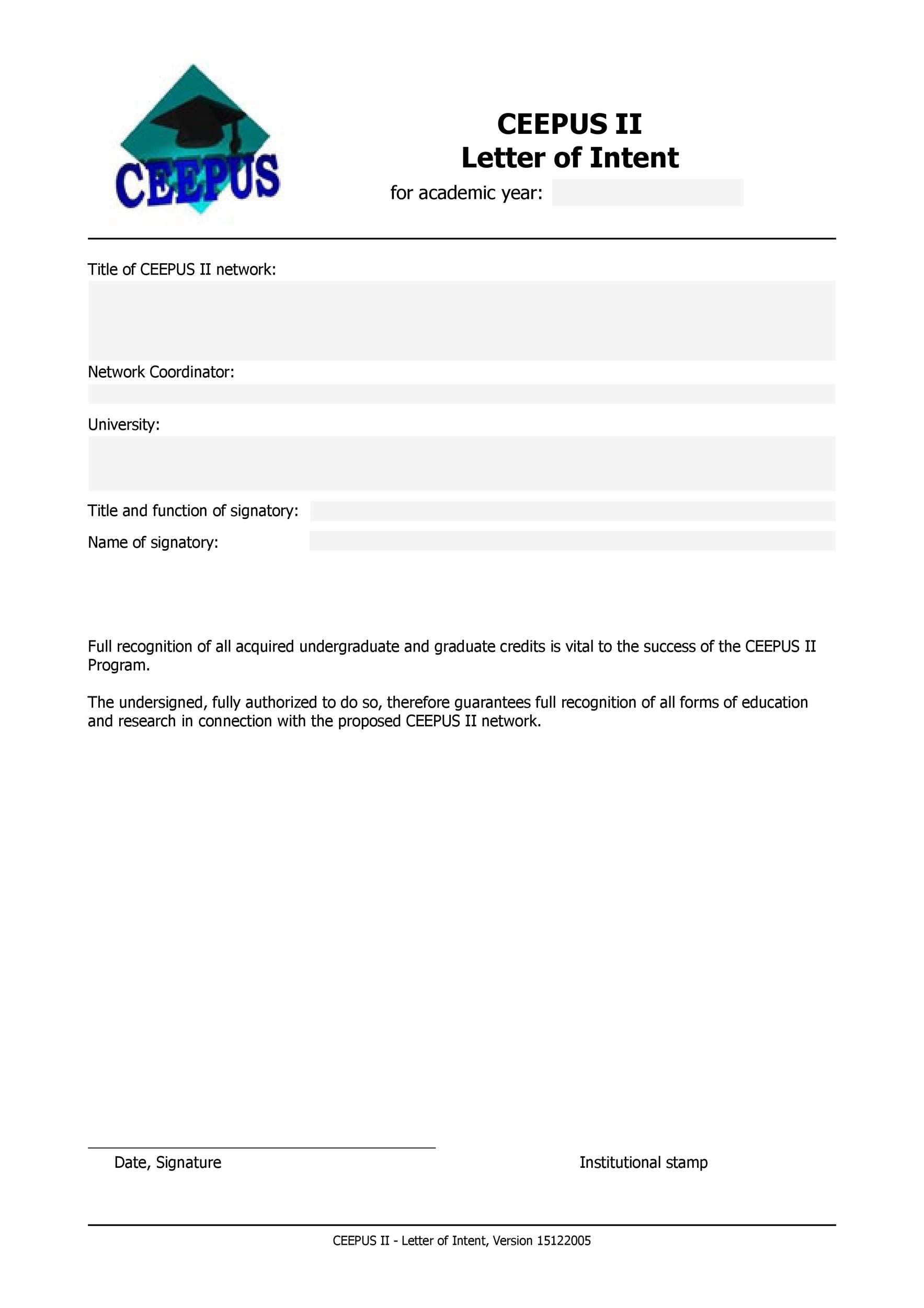 Printable Letter Of Intent 02  Letter Of Intent To Purchase Business Template