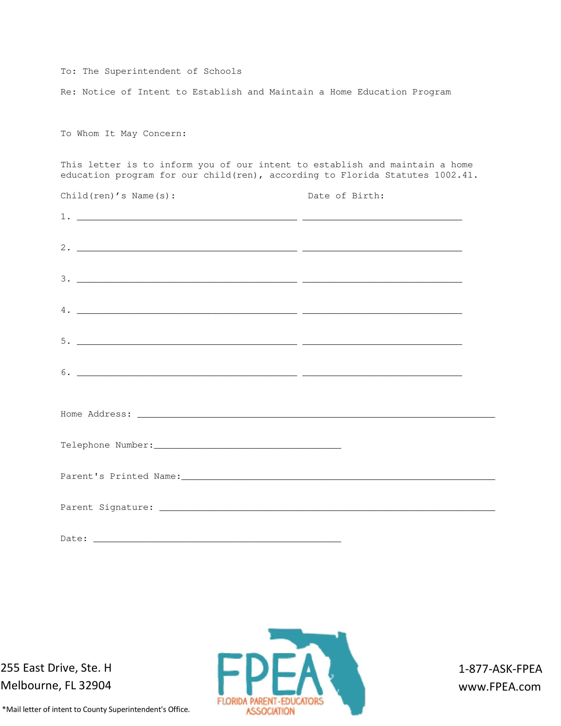 Free letter of intent 07
