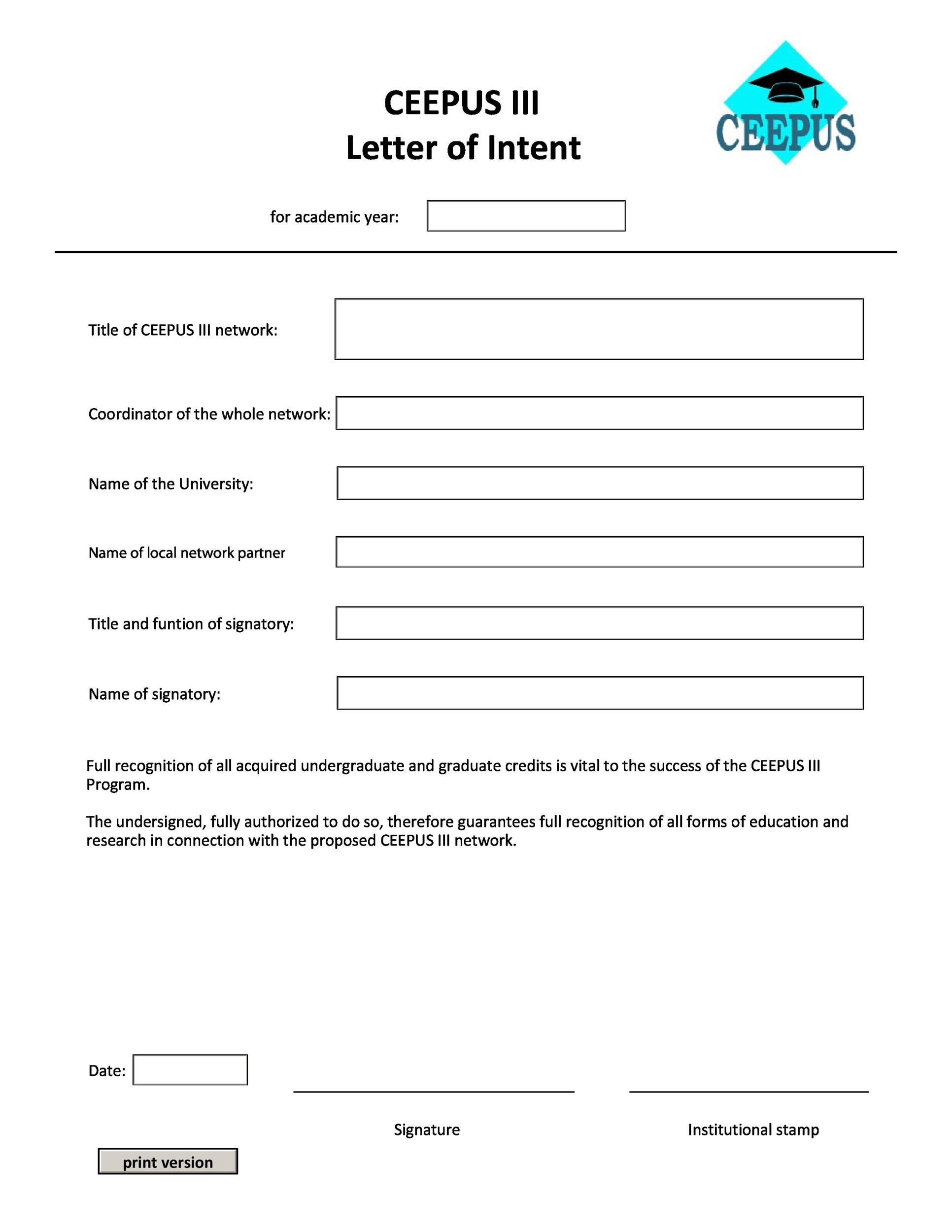 Free letter of intent 21