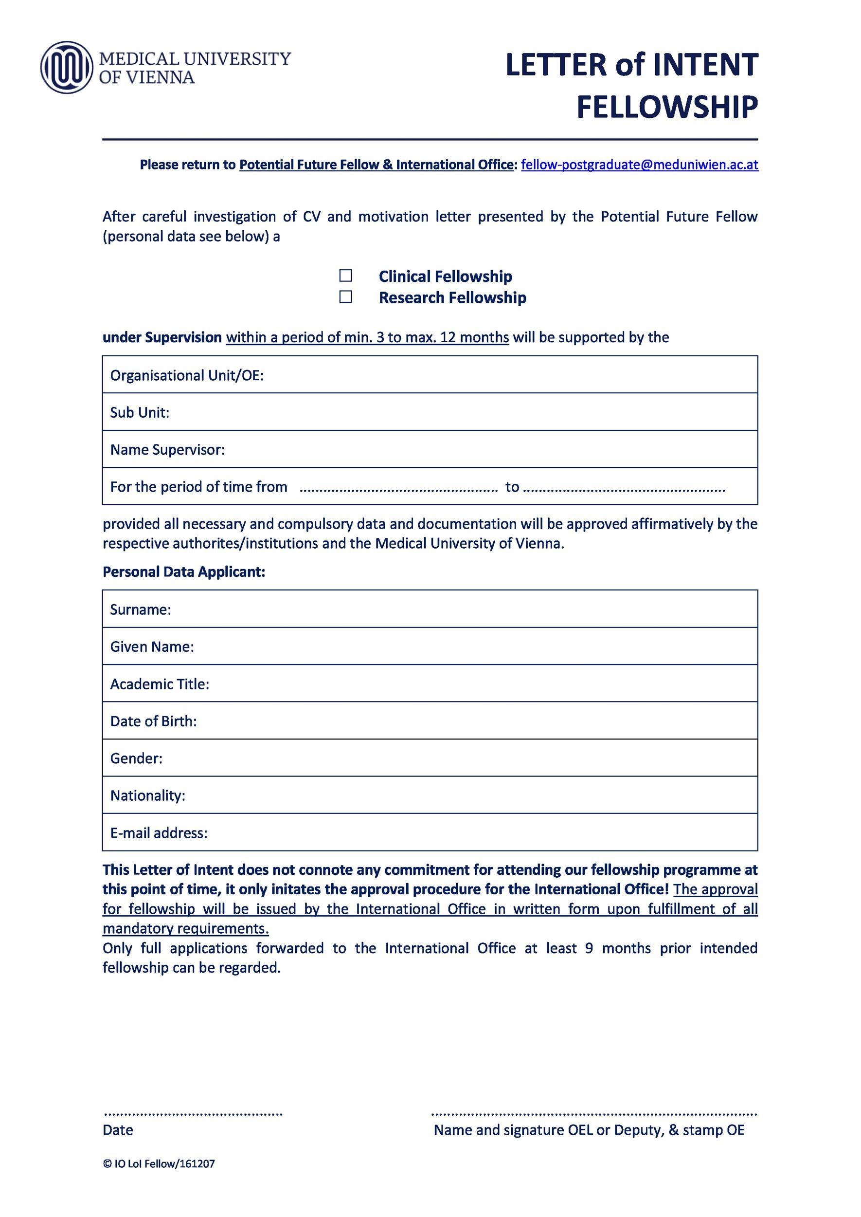 Free letter of intent 22