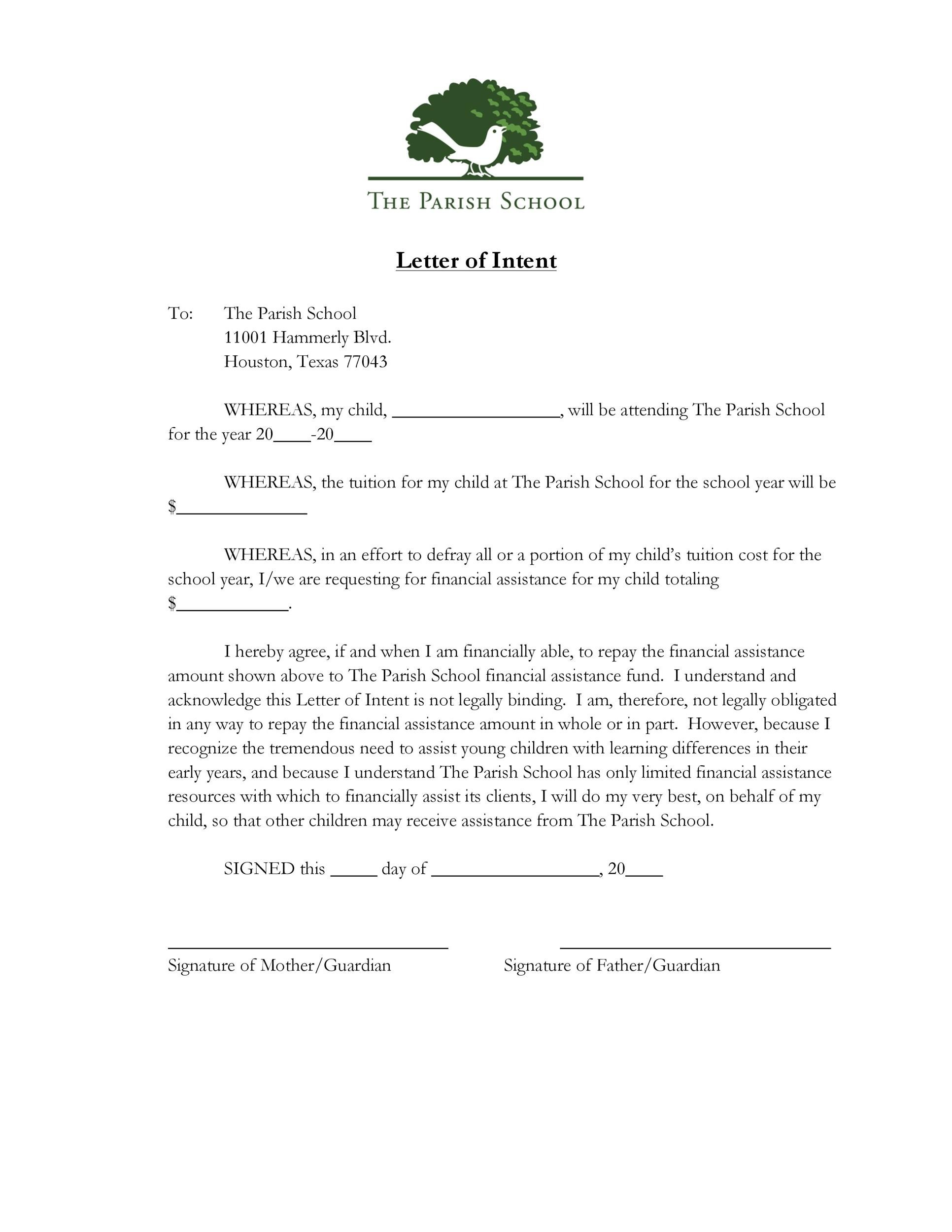 Free letter of intent 33