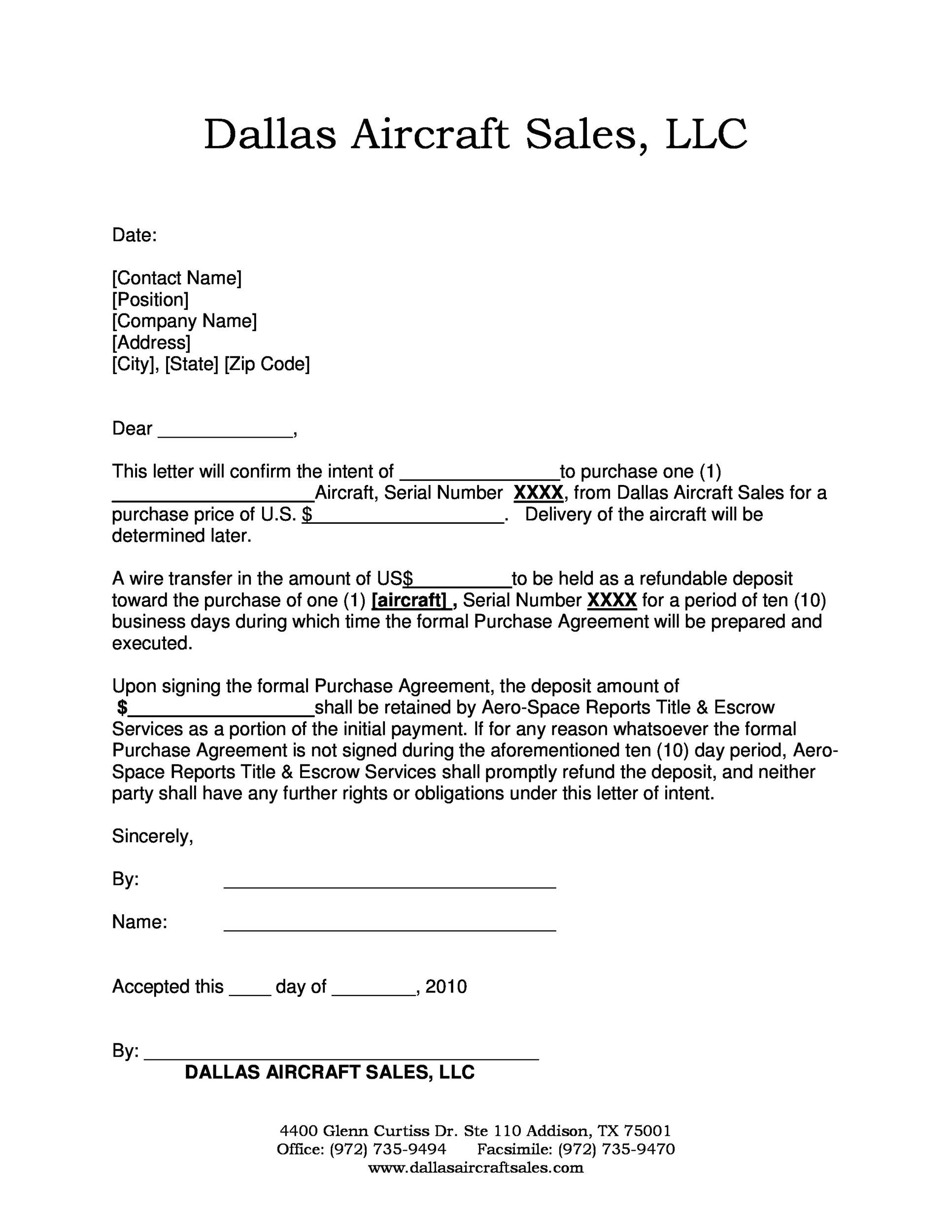 Simple Letter Of Intent Template  Letter Of Intent To Buy A Business Template