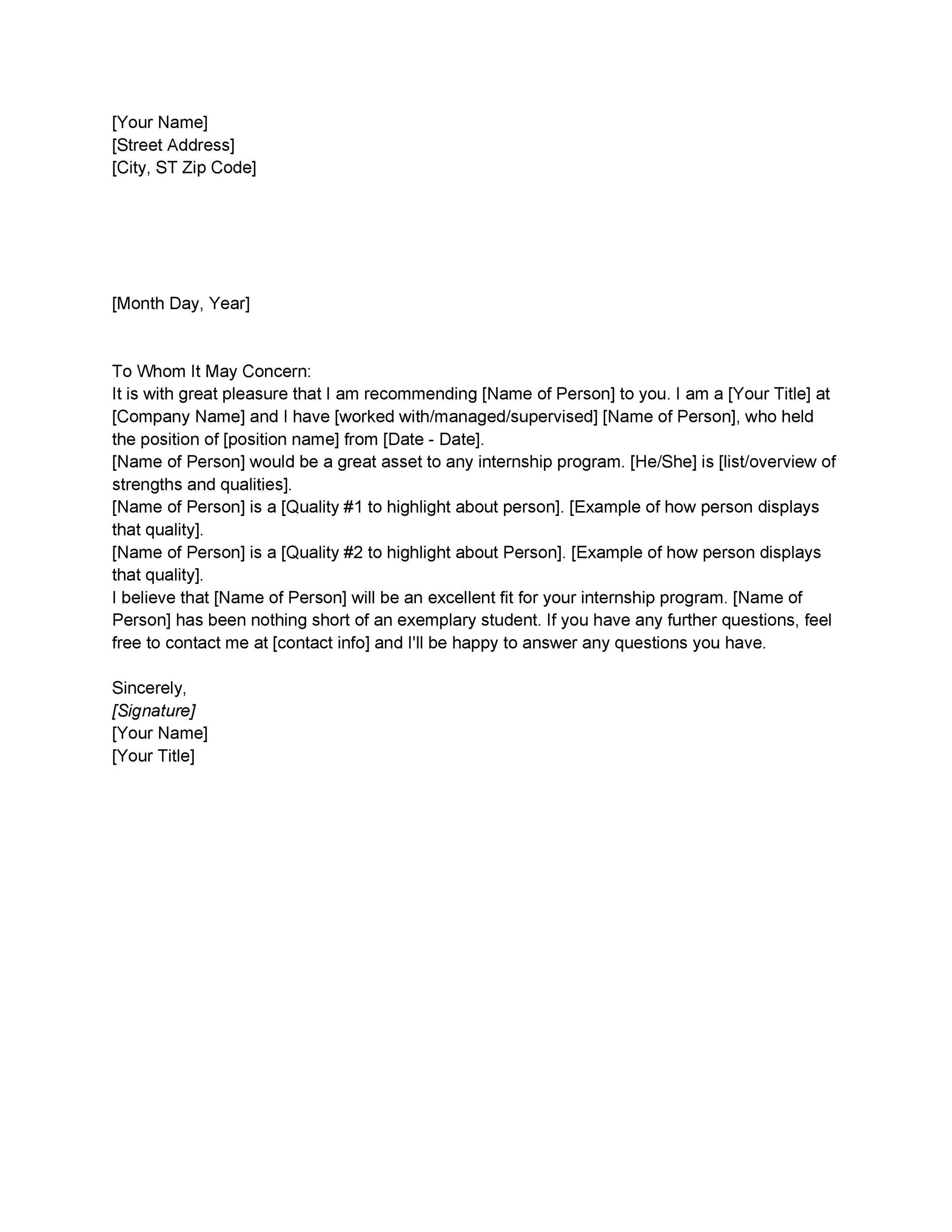Letter Of Recommendation' from templatelab.com