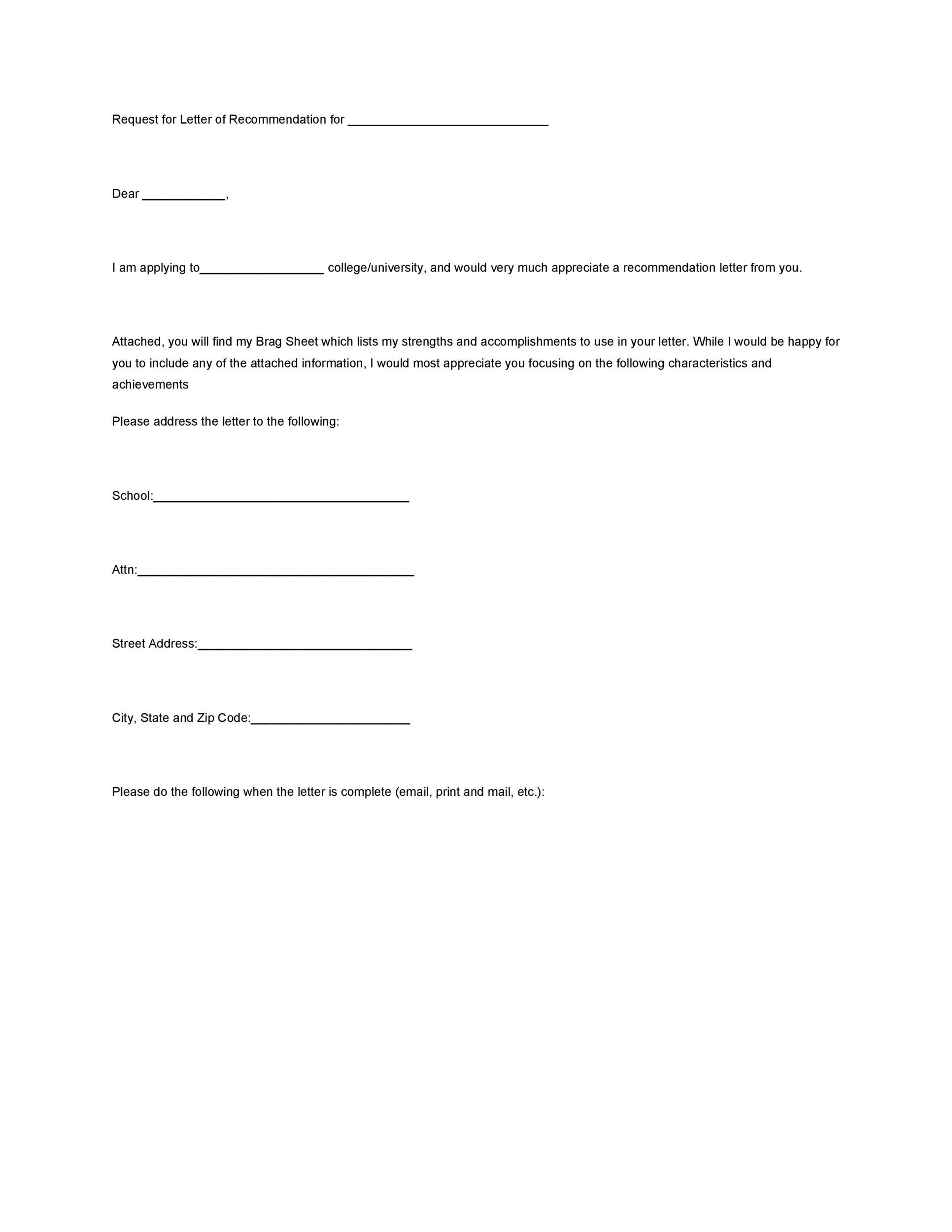 Requesting A Letter Of Recommendation Email from templatelab.com