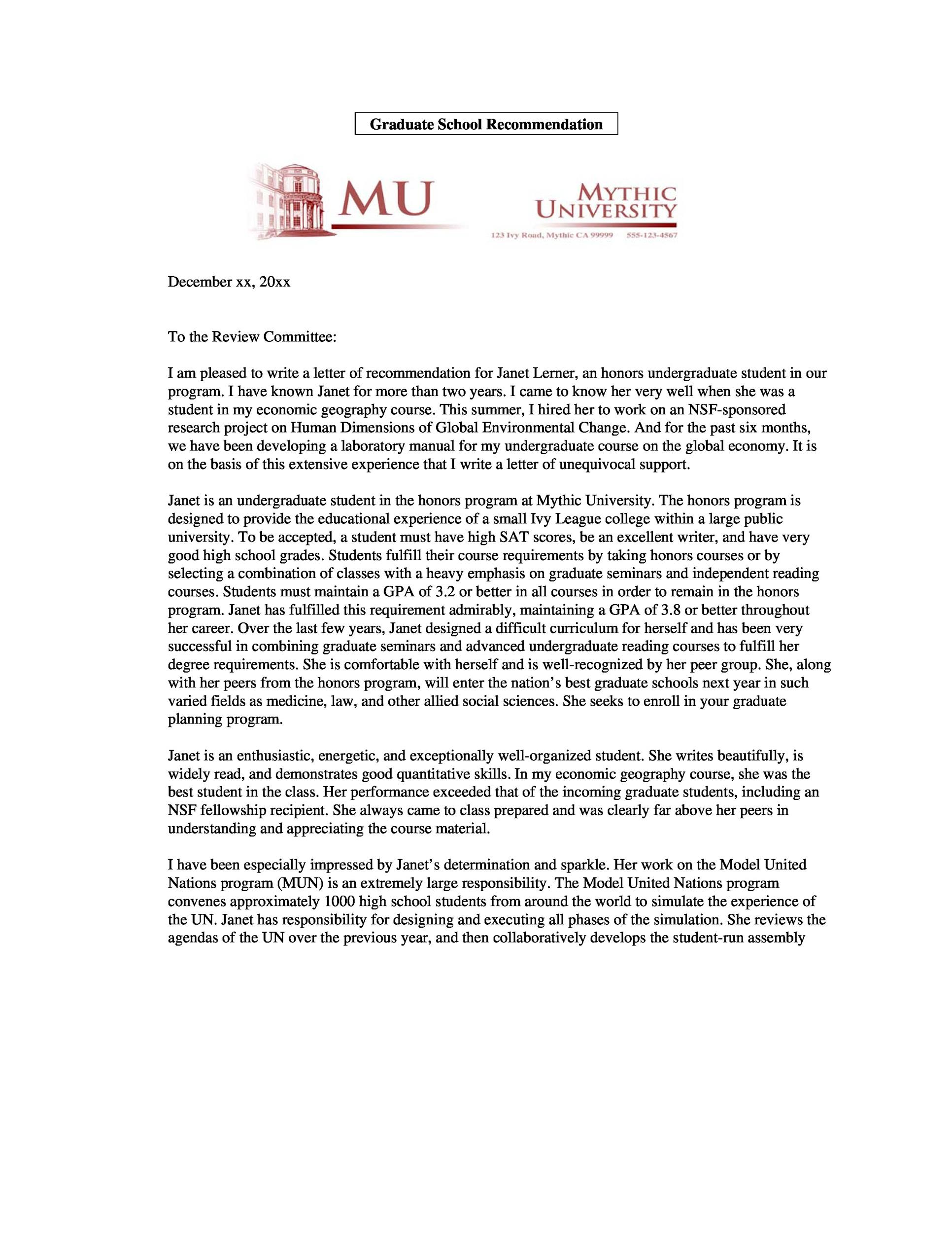 Great Printable Letter Of Recommendation 19 Intended Letter Of Recommendation