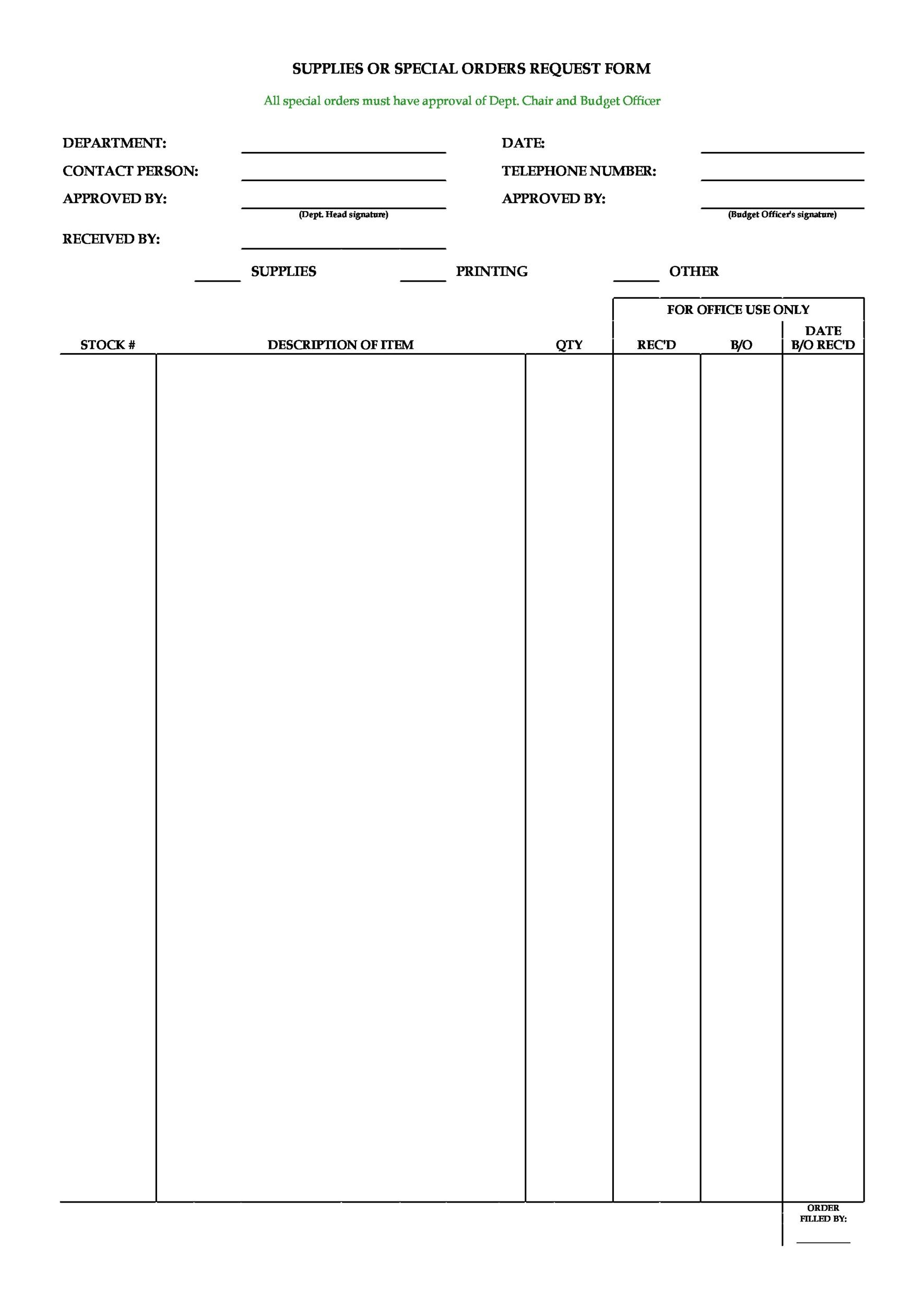 Free Order Form Template 02