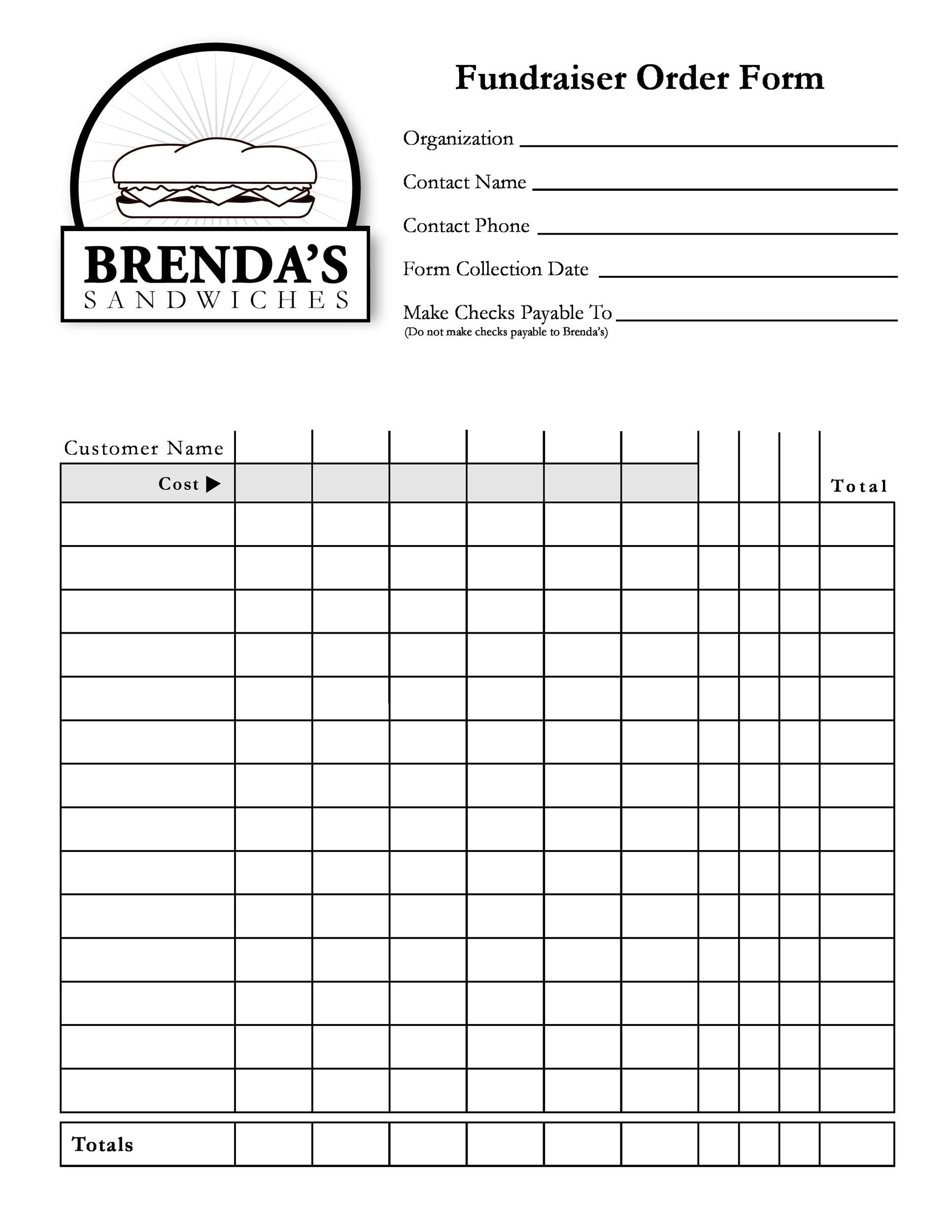Free Order Form Template 09