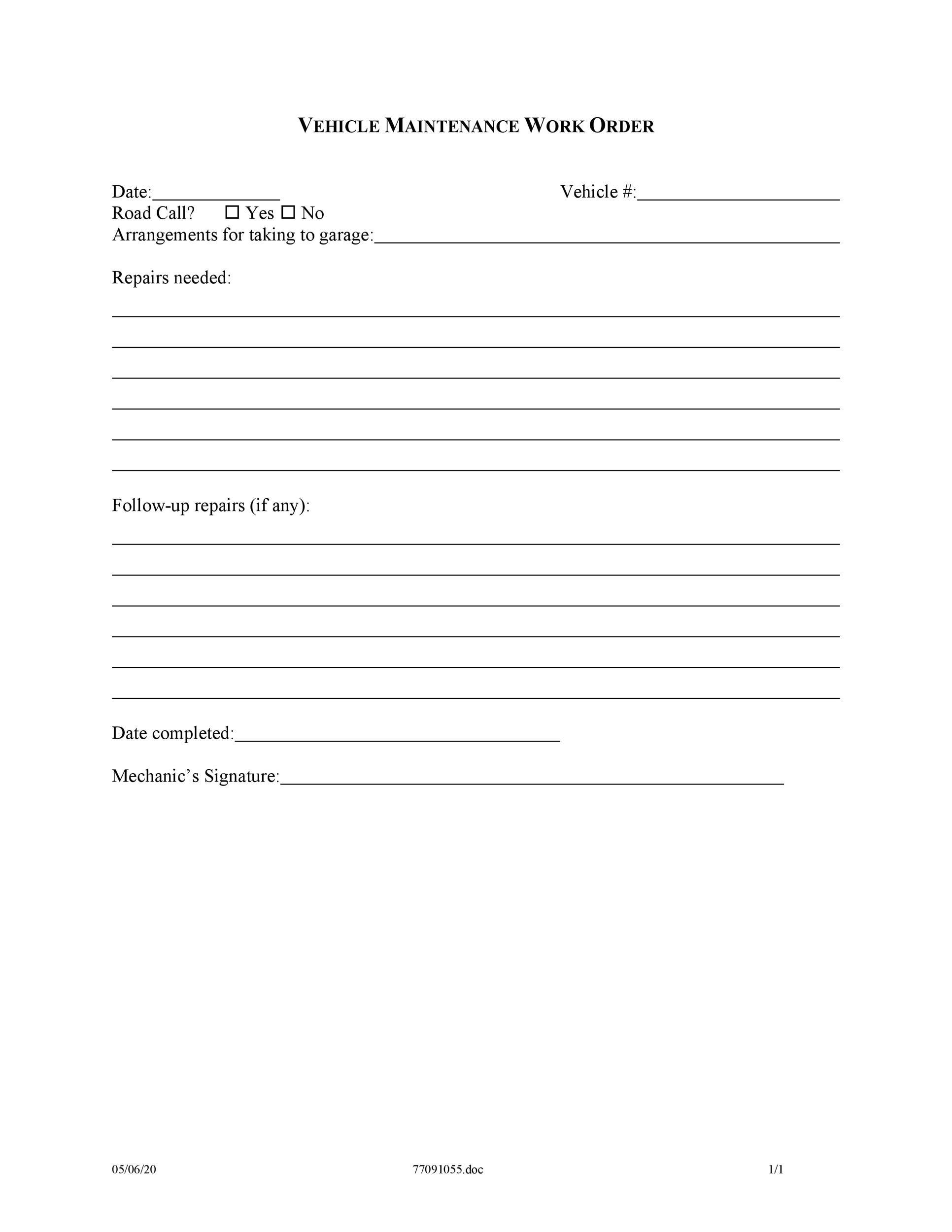 40 order form templates work order change order more. Black Bedroom Furniture Sets. Home Design Ideas