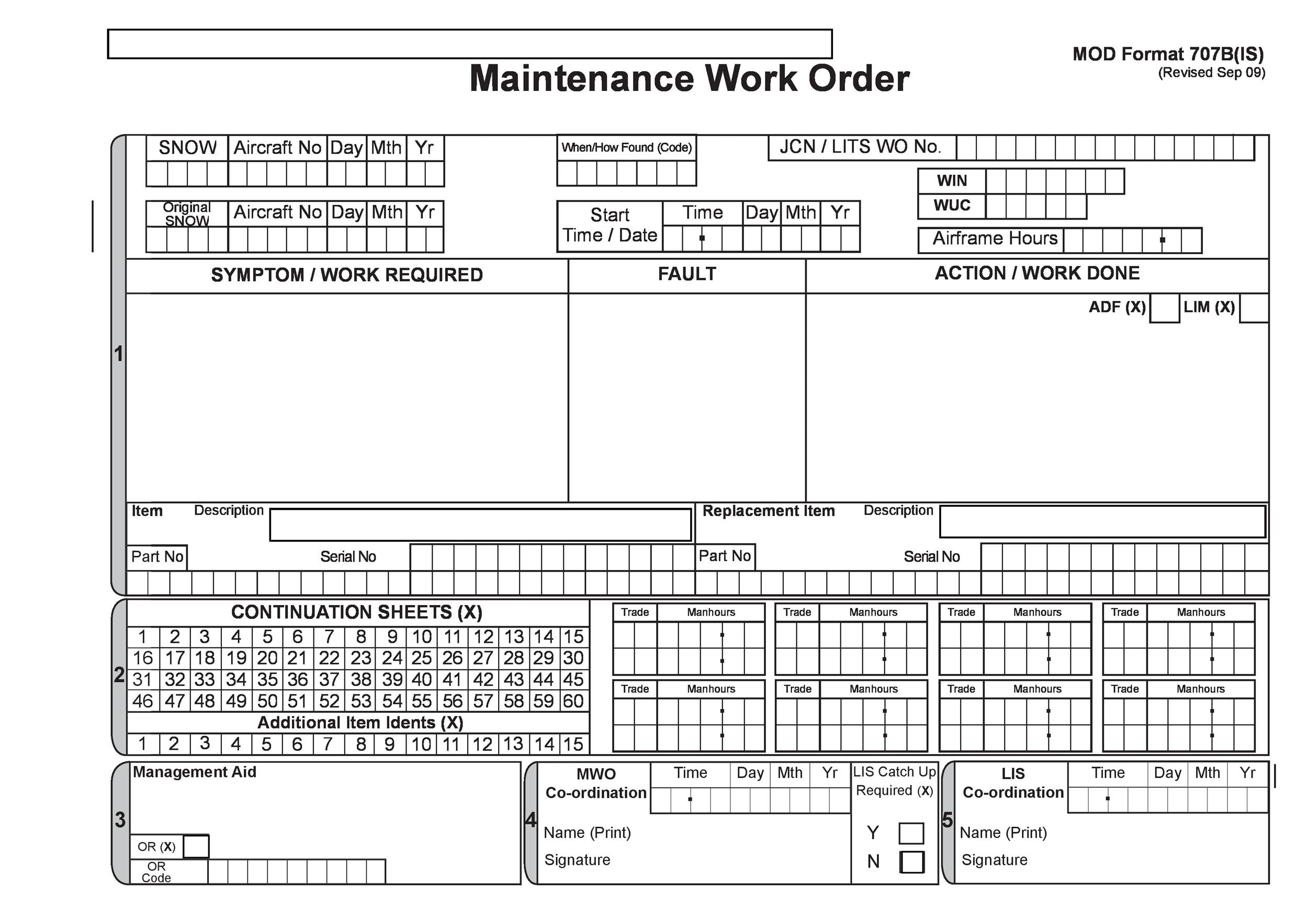 40 Order Form Templates work order change order MORE – Maintenance Work Order Form