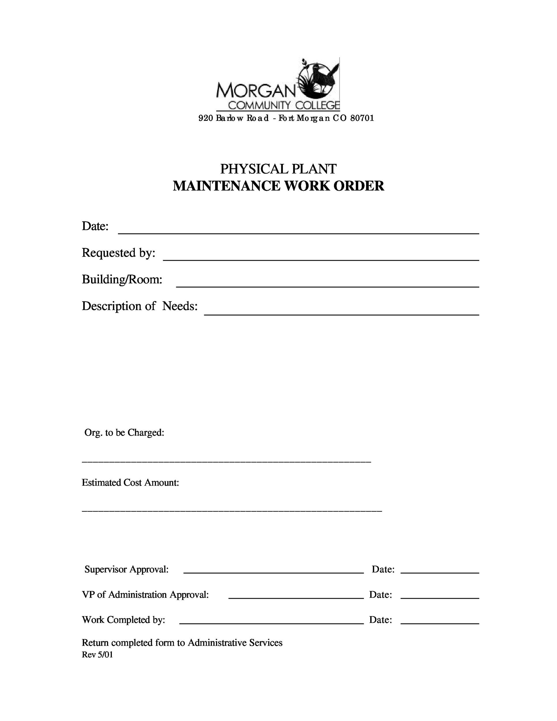 40 Order Form Templates work order change order MORE – Service Order Form Template