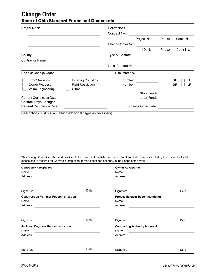 12 Maintenance Work Order Form Abstract Sample