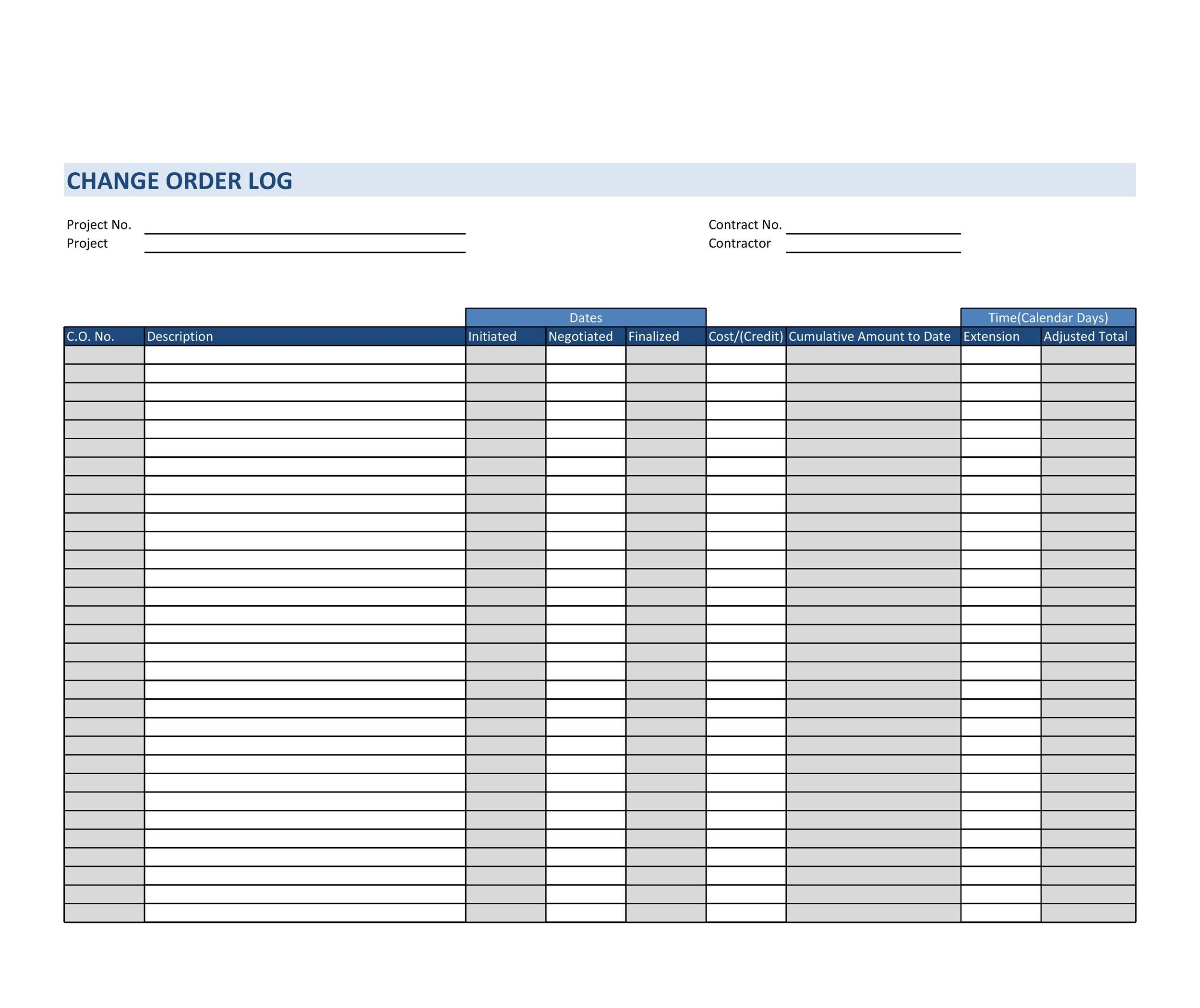 Free Order Form Template 35
