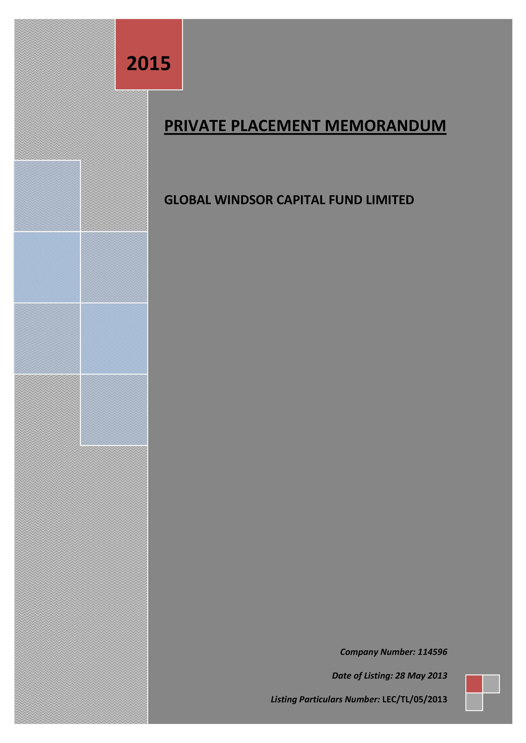 private placement memorandum template 06