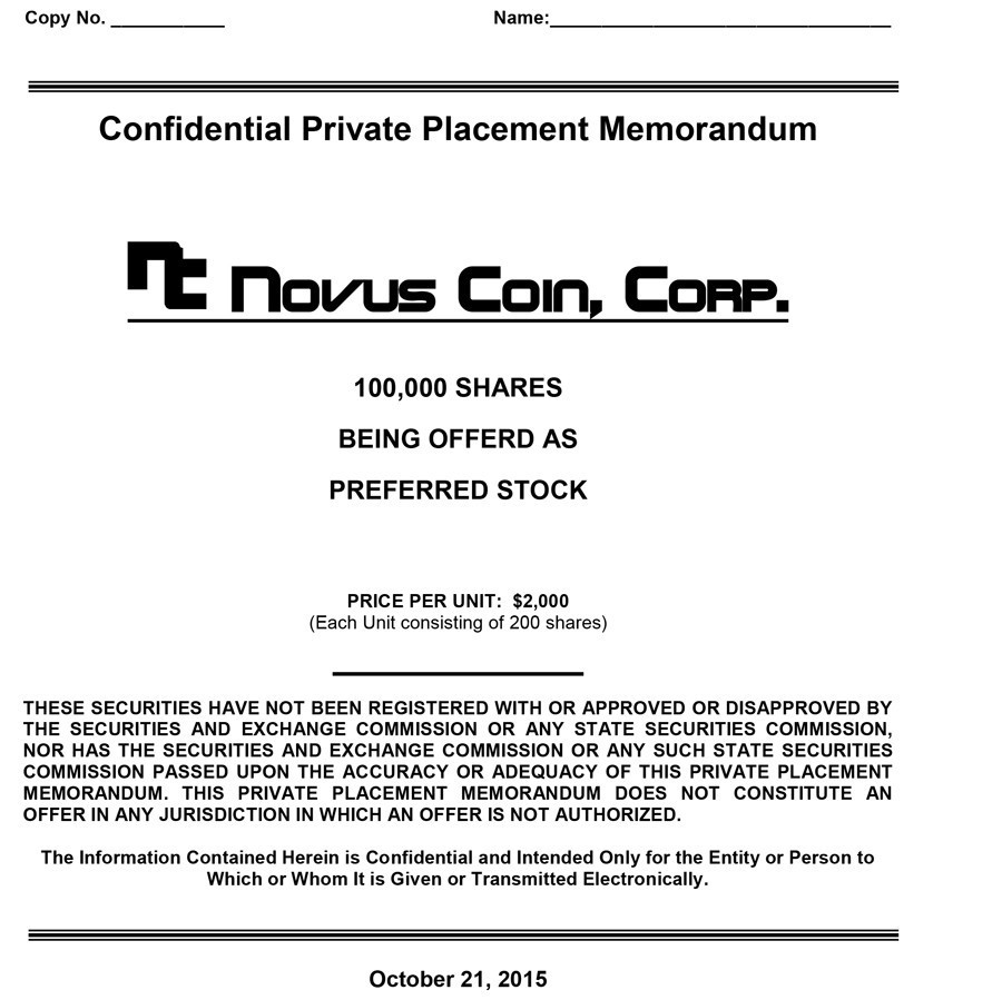 Free private placement memorandum template 21