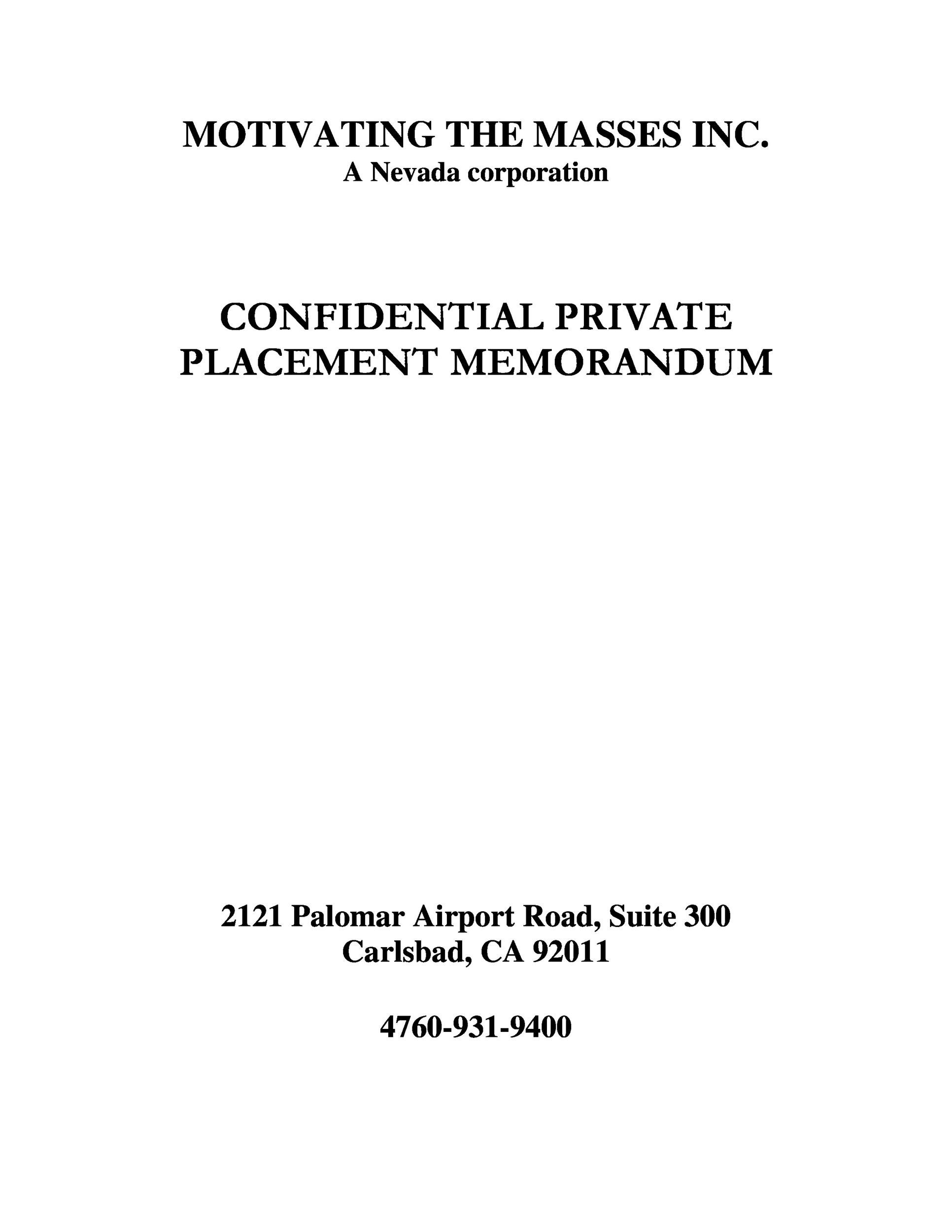 private placement memorandum template 33