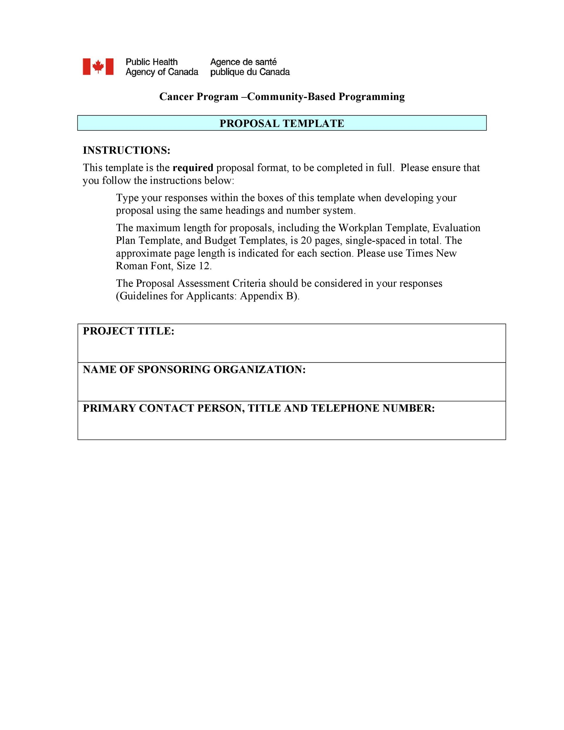 Printable Project Proposal Template 02  Professional Project Proposal