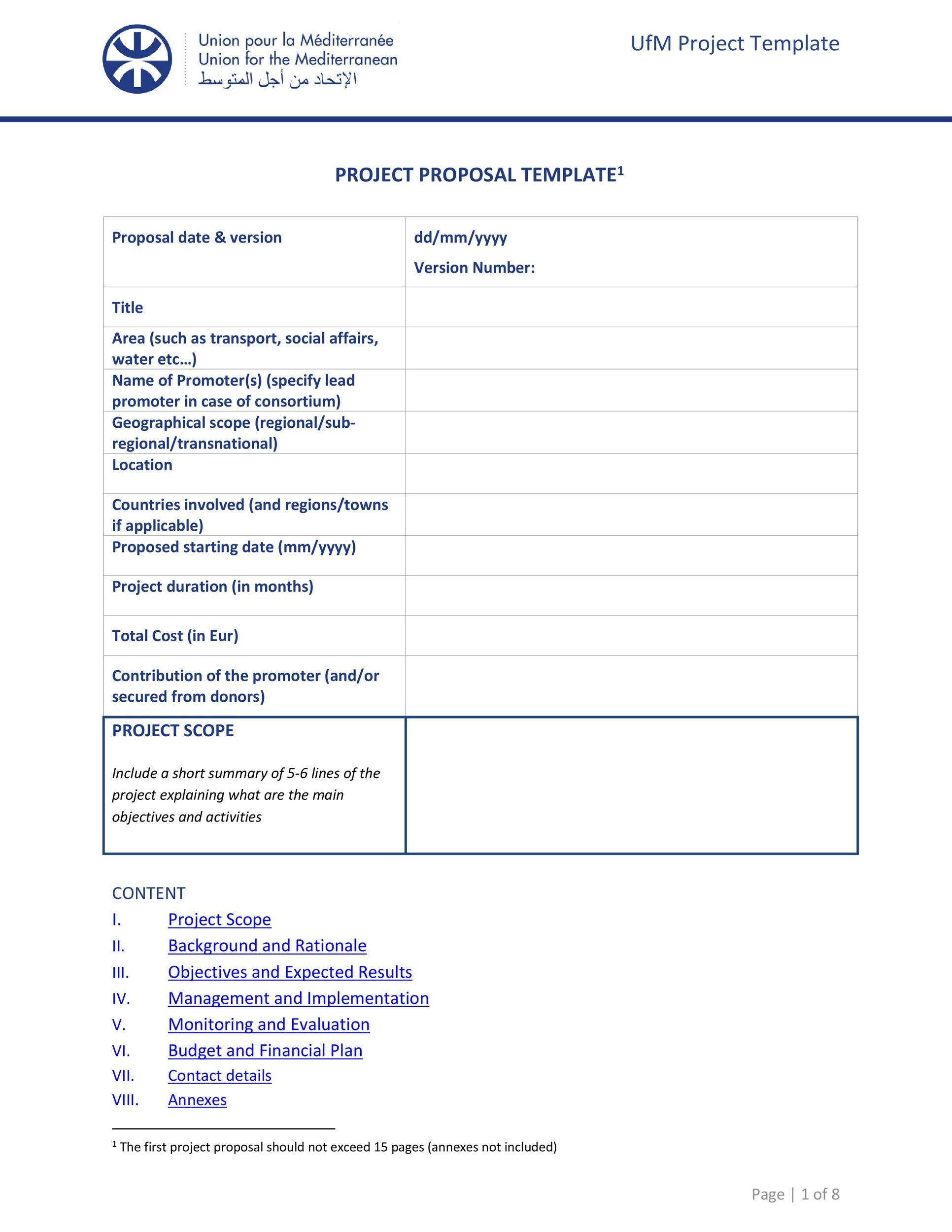 High Quality Printable Project Proposal Template 05  Professional Project Proposal