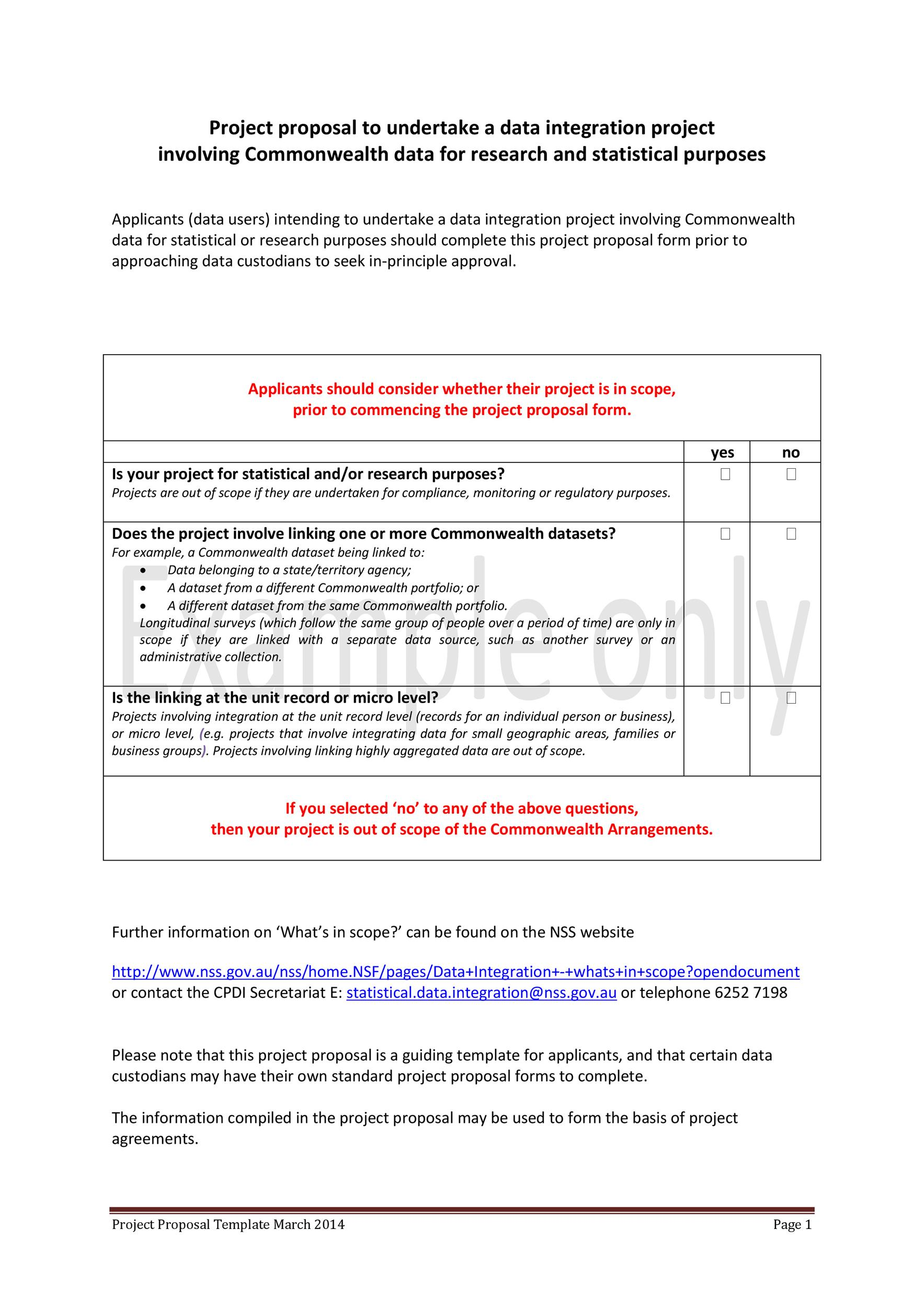 Printable Project Proposal Template 06  Proposal Form Template