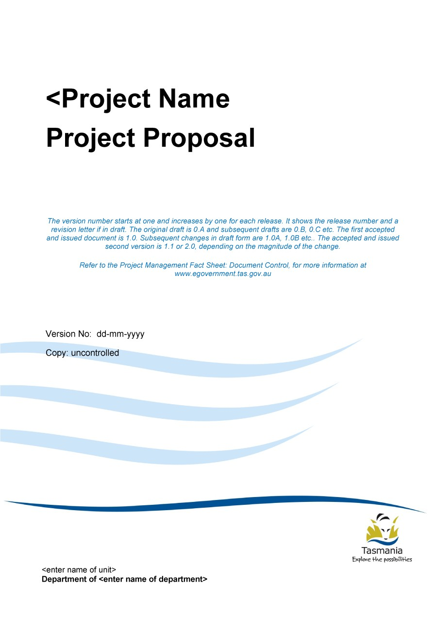 Printable Project Proposal Template 08  Professional Project Proposal