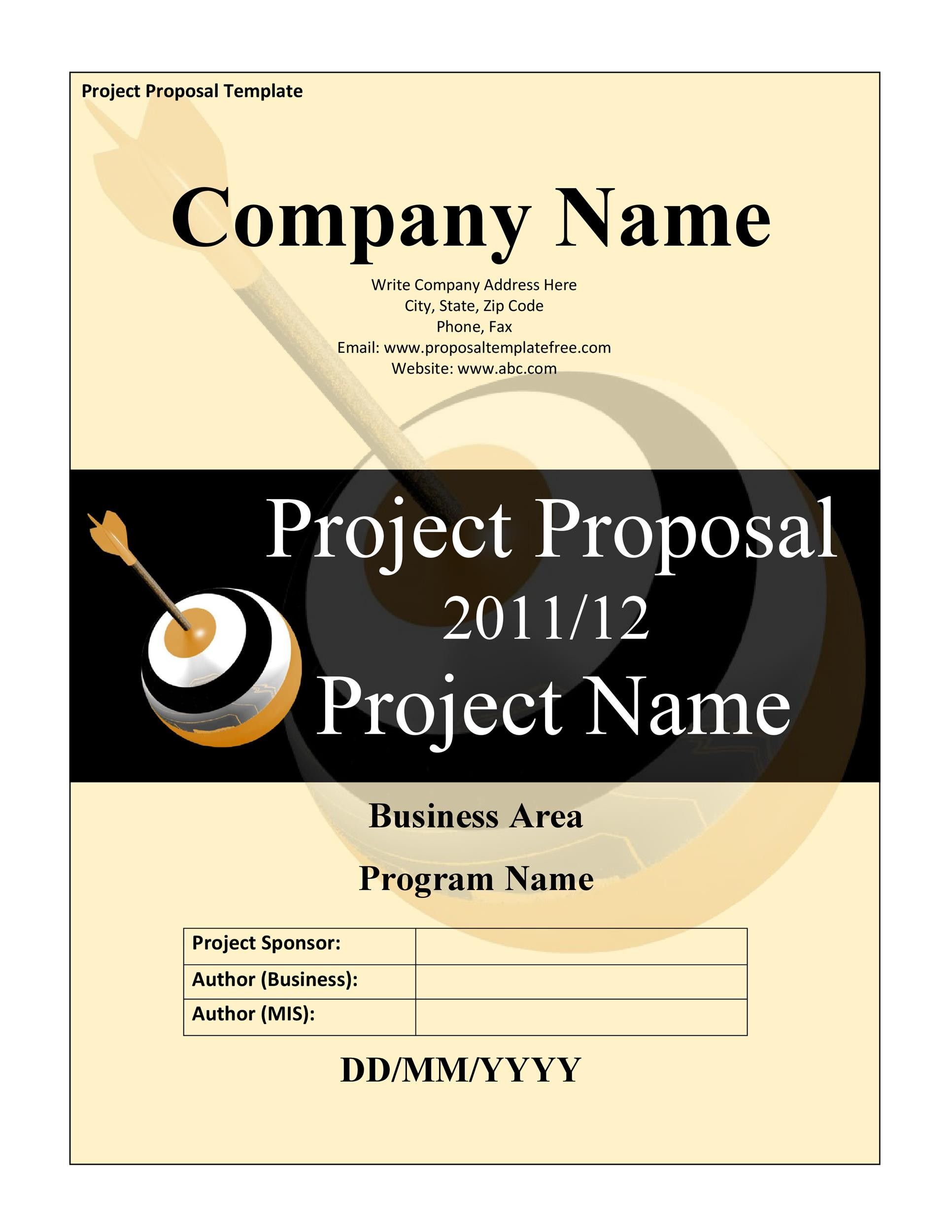 Free Project Proposal Template 14
