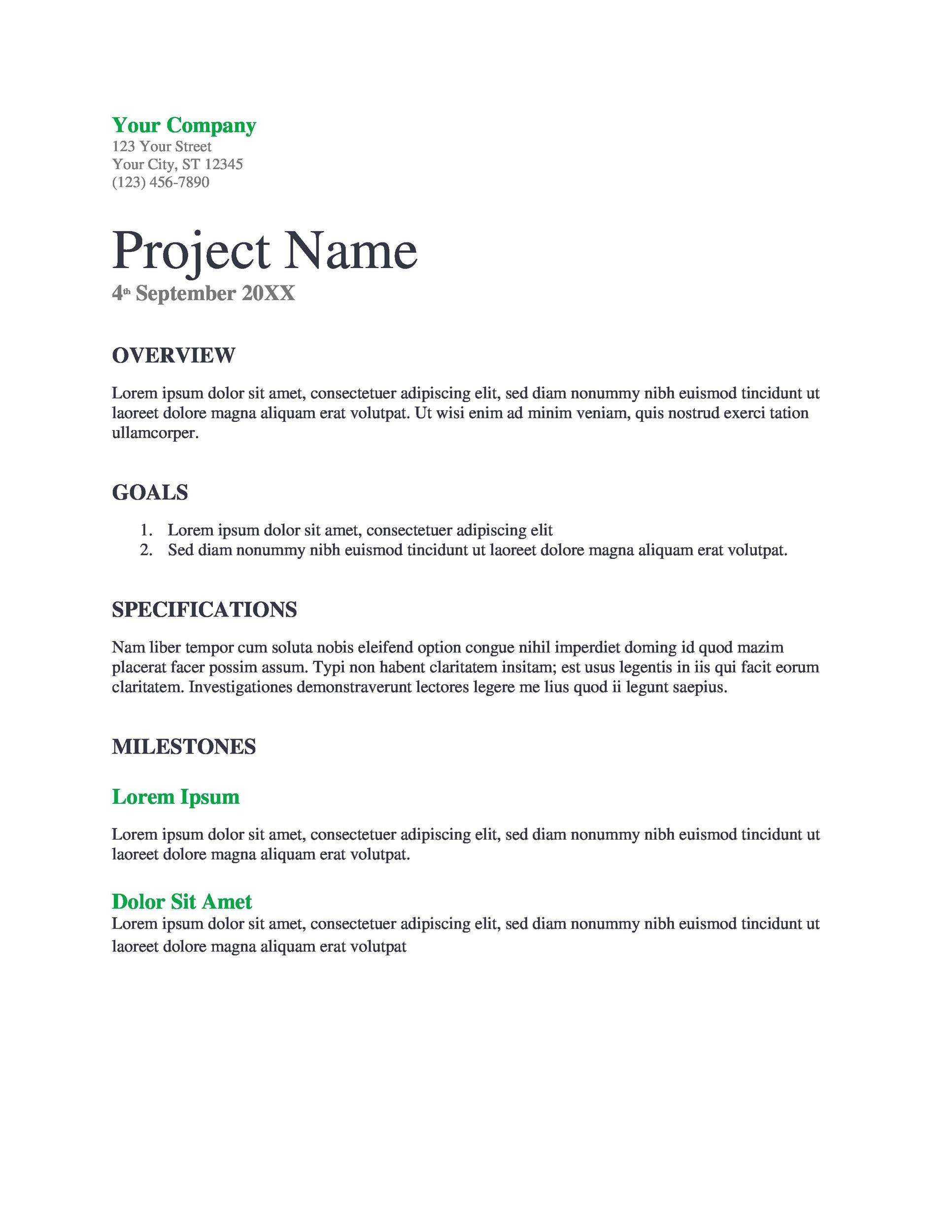 Free Project Proposal Template 15