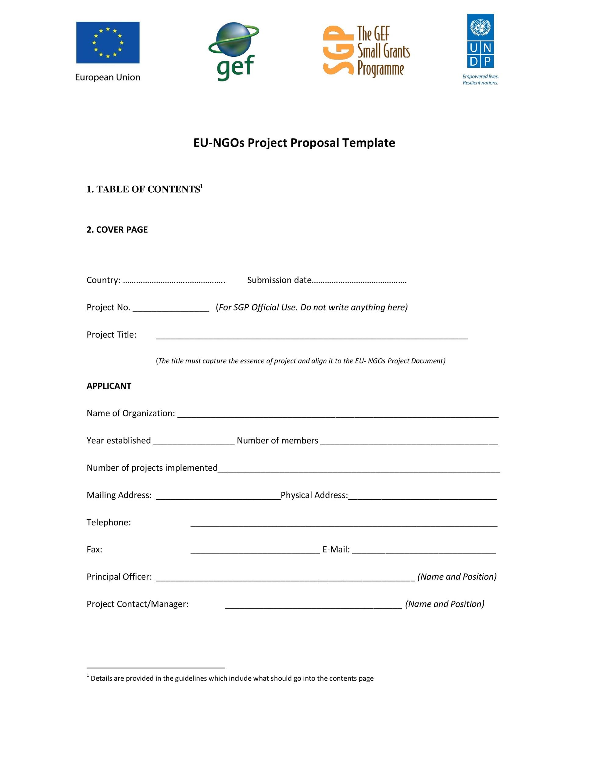 Free Project Proposal Template 32