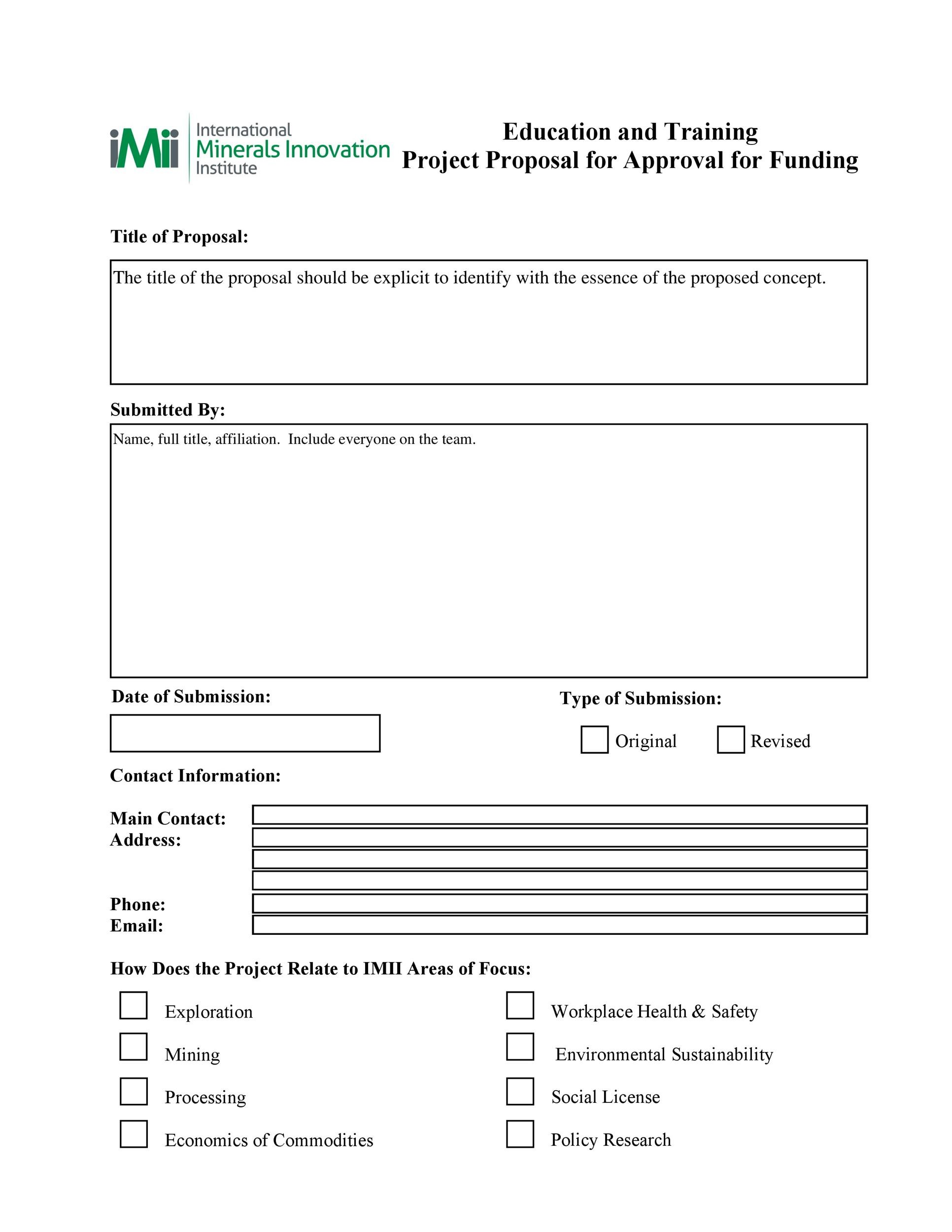 Free Project Proposal Template 41